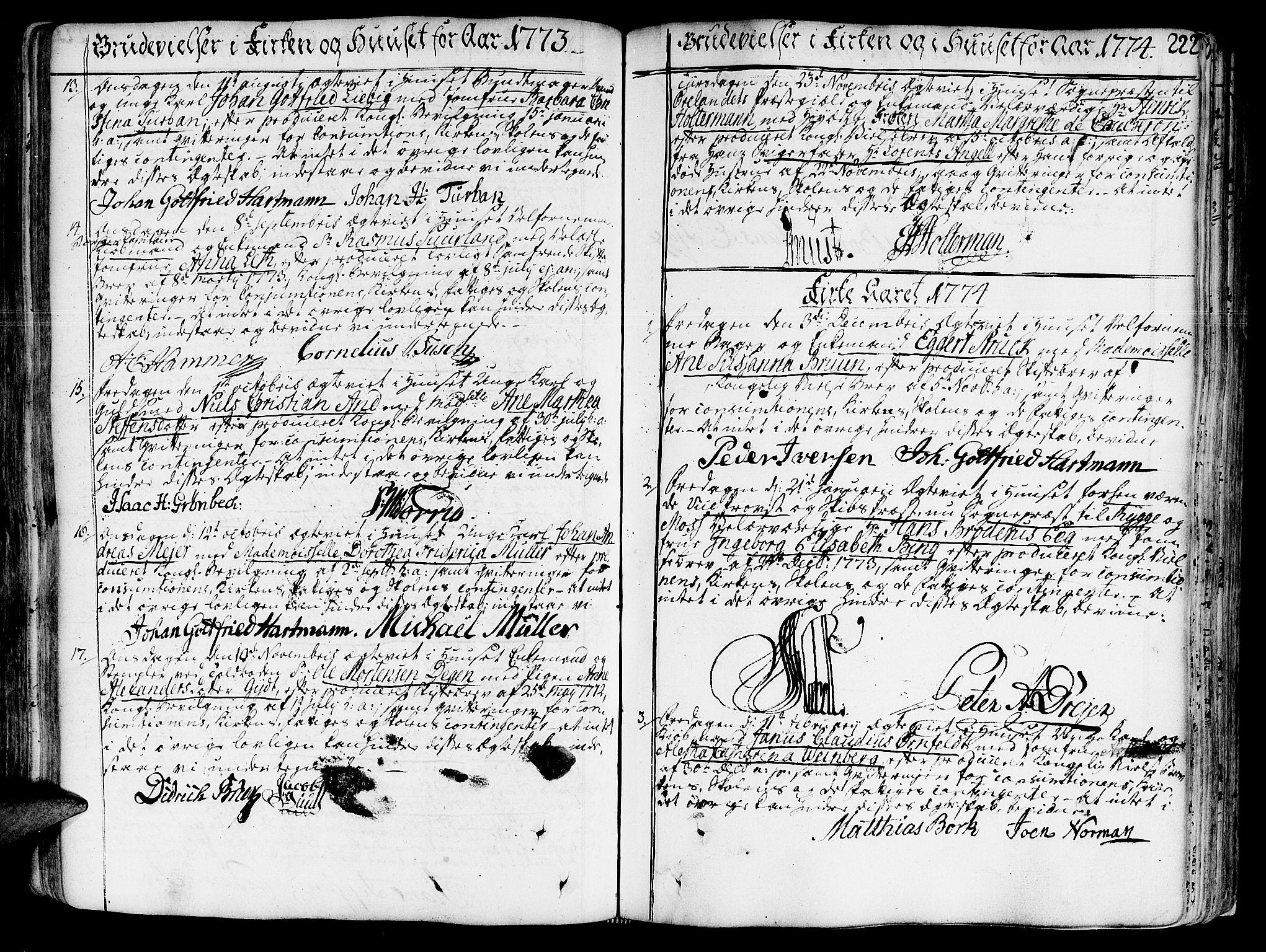 SAT, Ministerialprotokoller, klokkerbøker og fødselsregistre - Sør-Trøndelag, 602/L0103: Ministerialbok nr. 602A01, 1732-1774, s. 222