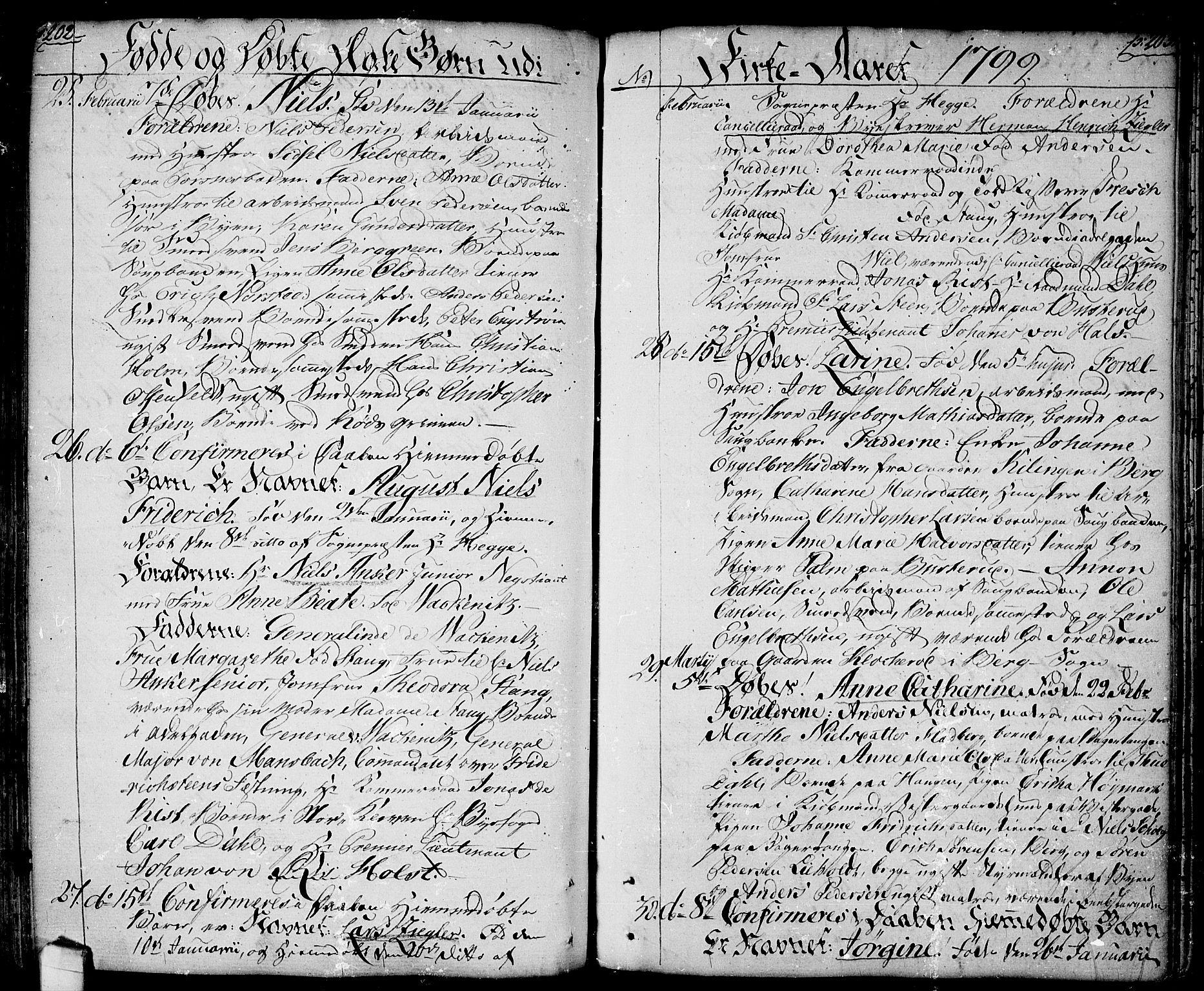 SAO, Halden prestekontor Kirkebøker, F/Fa/L0002: Ministerialbok nr. I 2, 1792-1812, s. 202-203