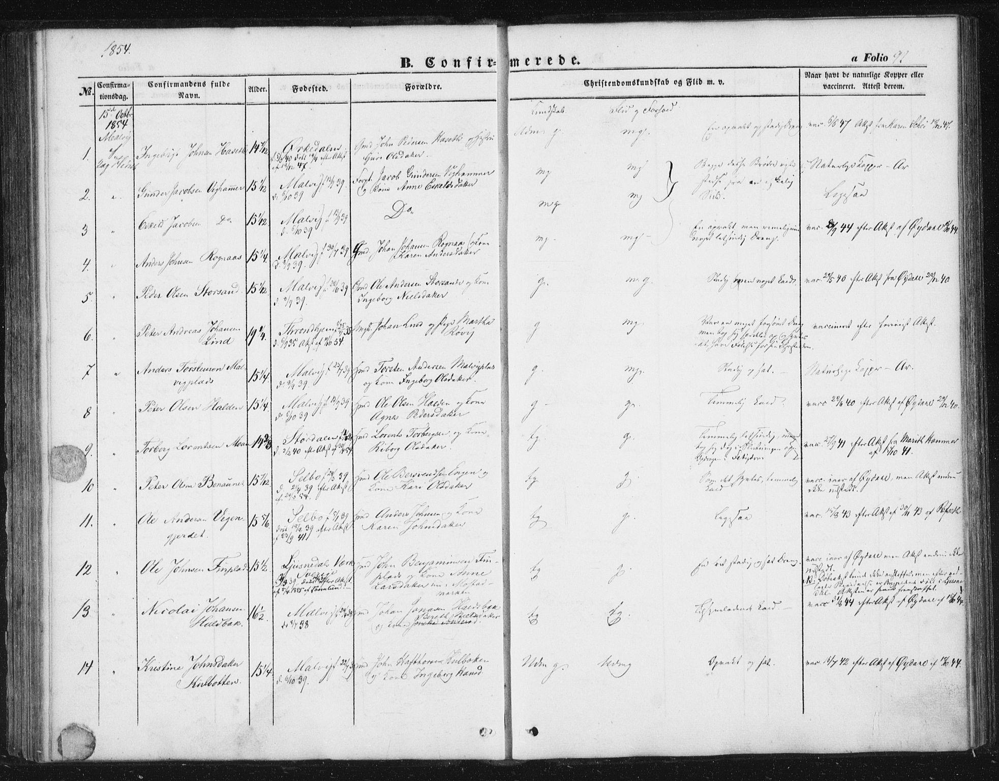 SAT, Ministerialprotokoller, klokkerbøker og fødselsregistre - Sør-Trøndelag, 616/L0407: Ministerialbok nr. 616A04, 1848-1856, s. 92