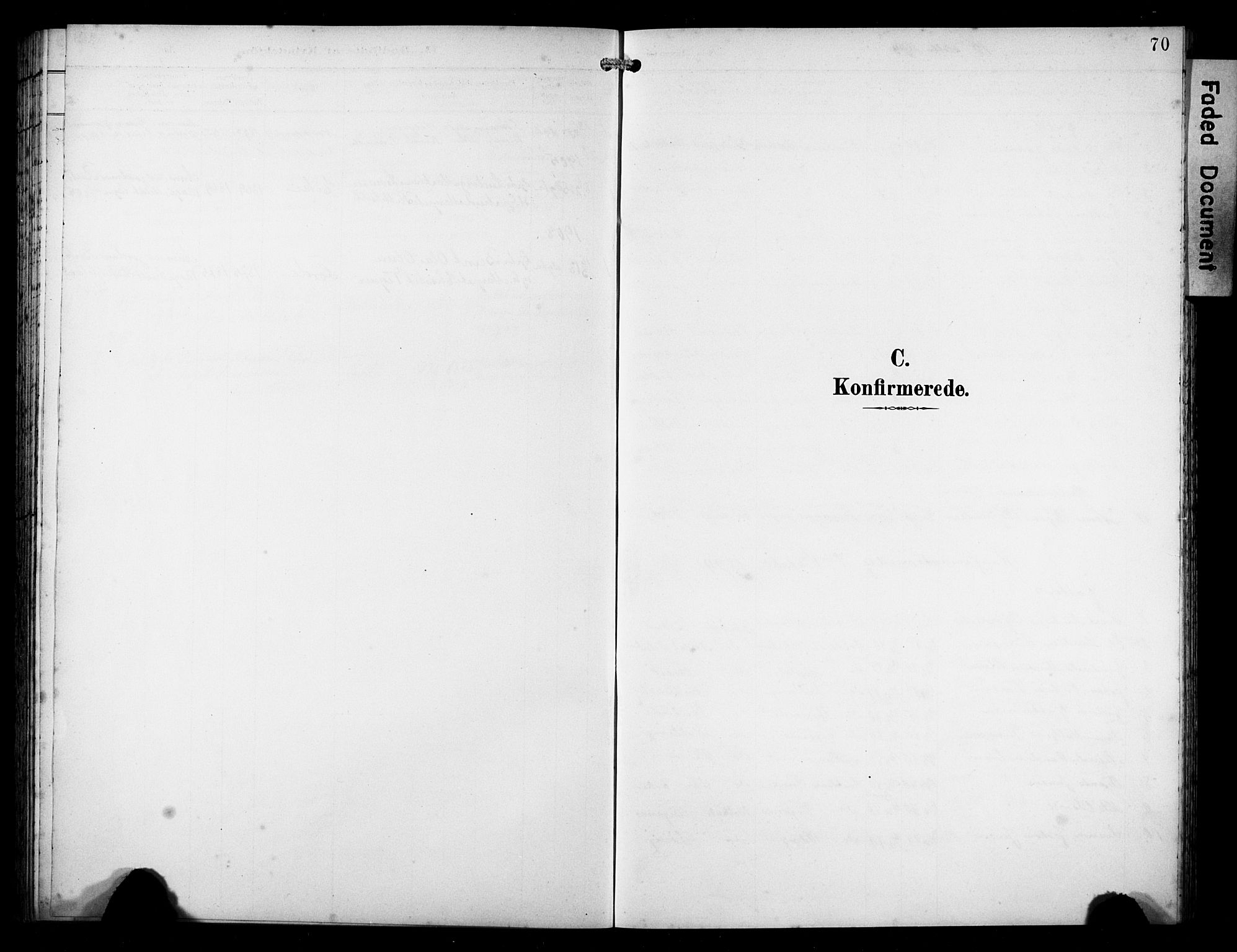 SAST, Avaldsnes sokneprestkontor, H/Ha/Hab/L0011: Klokkerbok nr. B 11, 1893-1929, s. 70