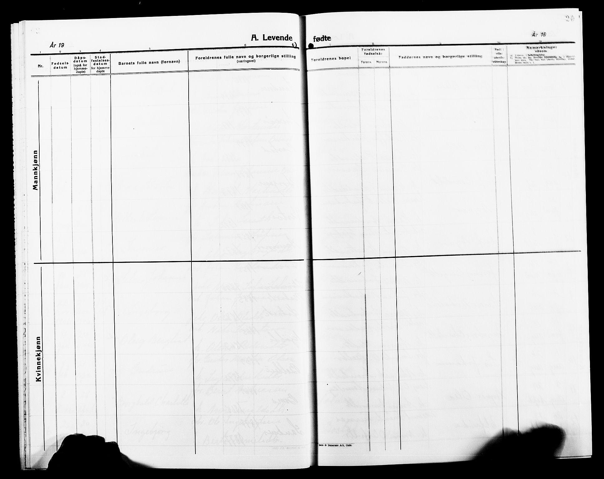 SAT, Ministerialprotokoller, klokkerbøker og fødselsregistre - Nord-Trøndelag, 749/L0488: Ministerialbok nr. 749D04, 1903-1915, s. 20