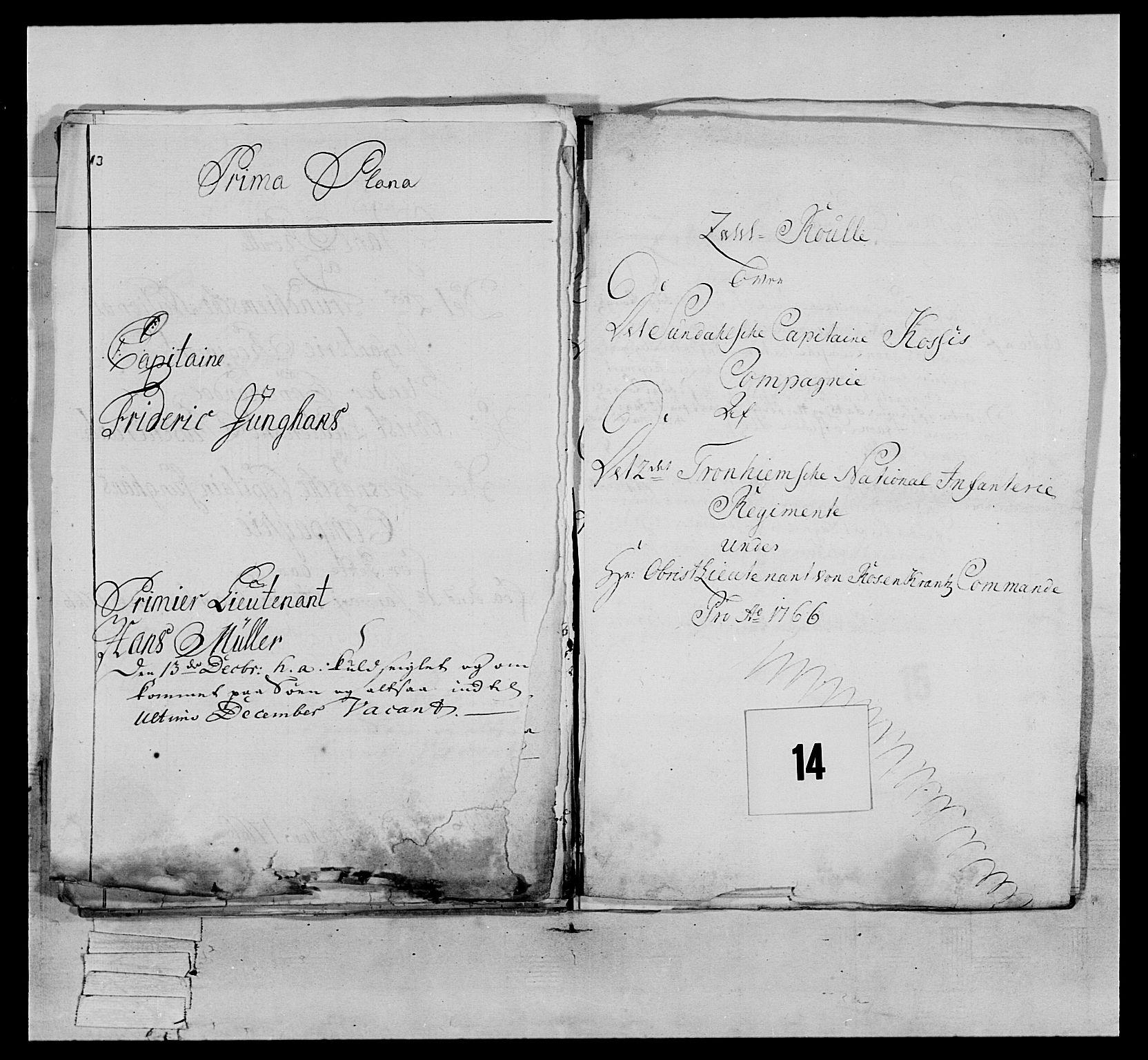 RA, Generalitets- og kommissariatskollegiet, Det kongelige norske kommissariatskollegium, E/Eh/L0076: 2. Trondheimske nasjonale infanteriregiment, 1766-1773, s. 27