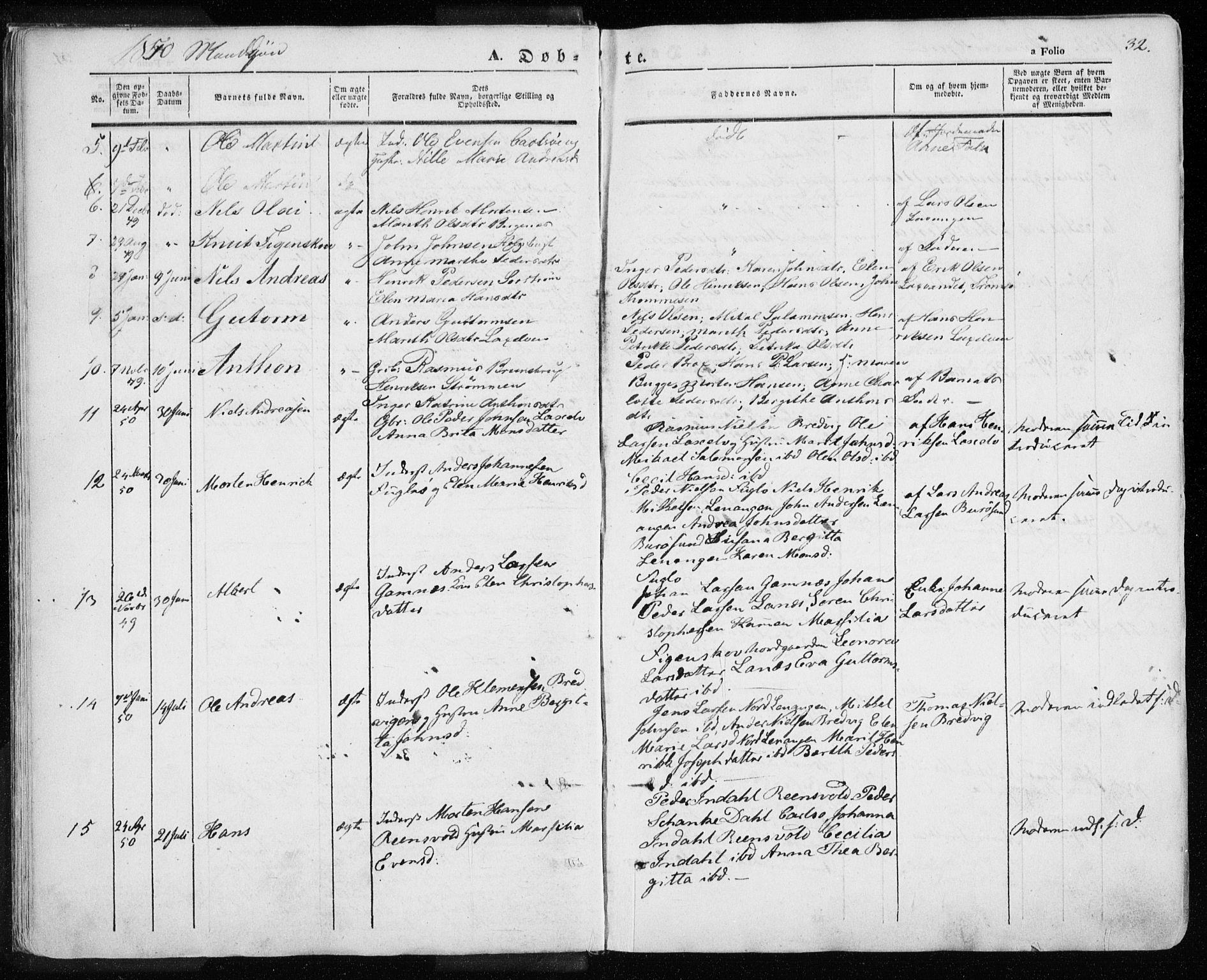 SATØ, Karlsøy sokneprestembete, Ministerialbok nr. 3, 1843-1860, s. 32