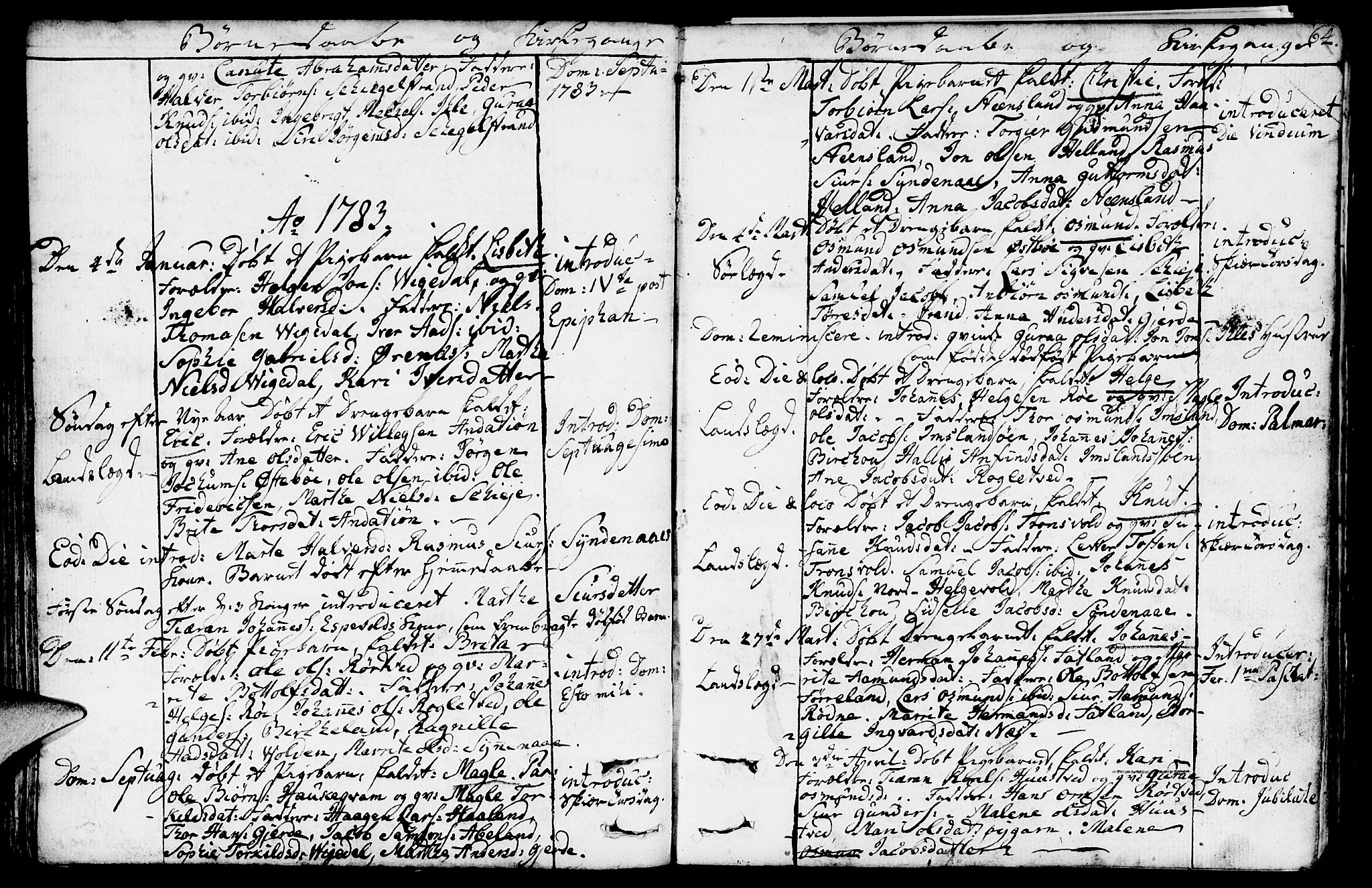 SAST, Vikedal sokneprestkontor, IV: Ministerialbok nr. A 2, 1779-1817, s. 64