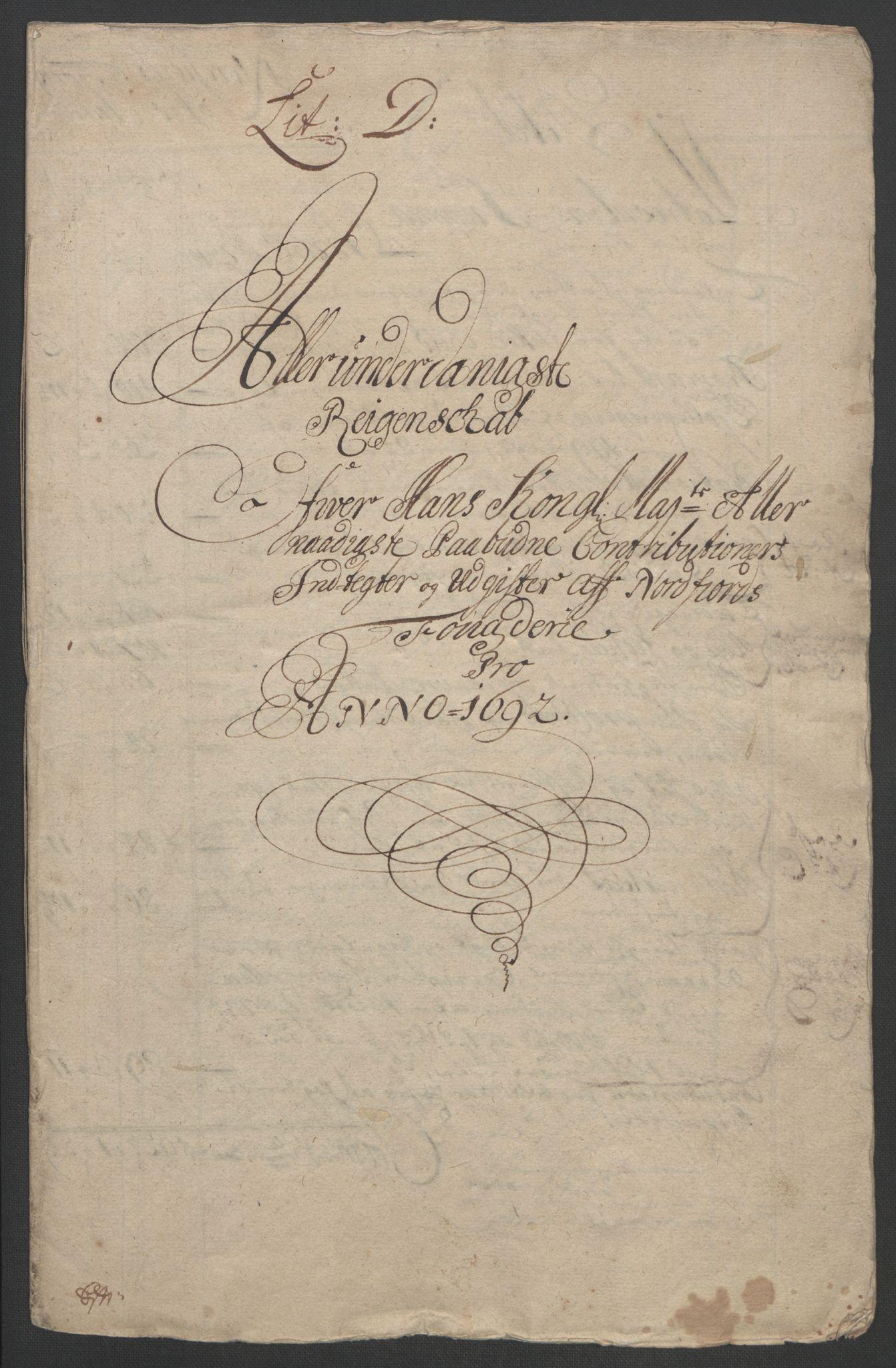 RA, Rentekammeret inntil 1814, Reviderte regnskaper, Fogderegnskap, R53/L3420: Fogderegnskap Sunn- og Nordfjord, 1691-1692, s. 285