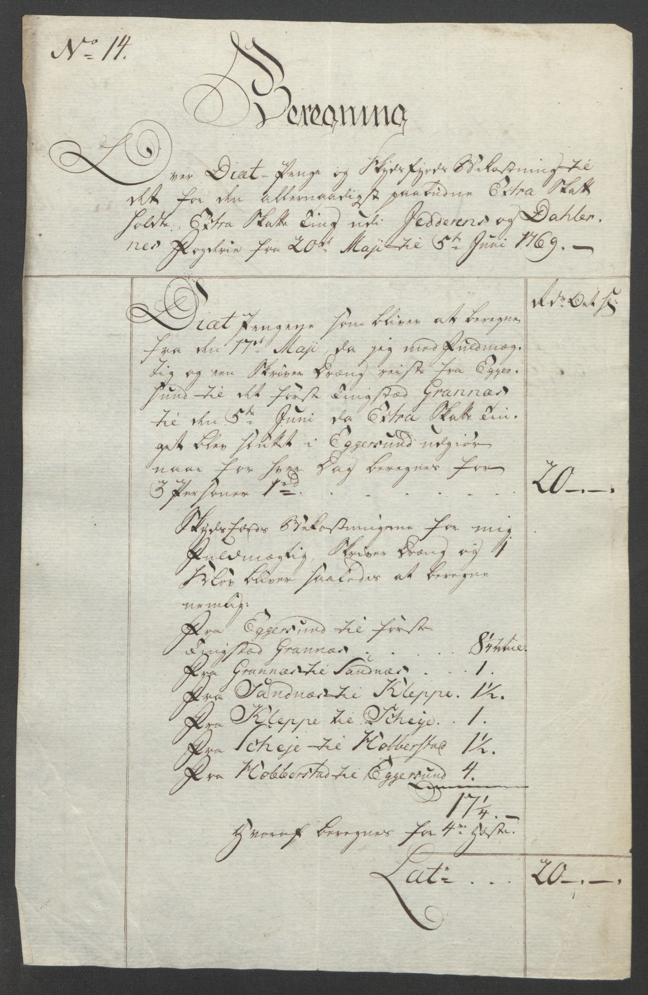 RA, Rentekammeret inntil 1814, Reviderte regnskaper, Fogderegnskap, R46/L2836: Ekstraskatten Jæren og Dalane, 1764-1766, s. 435