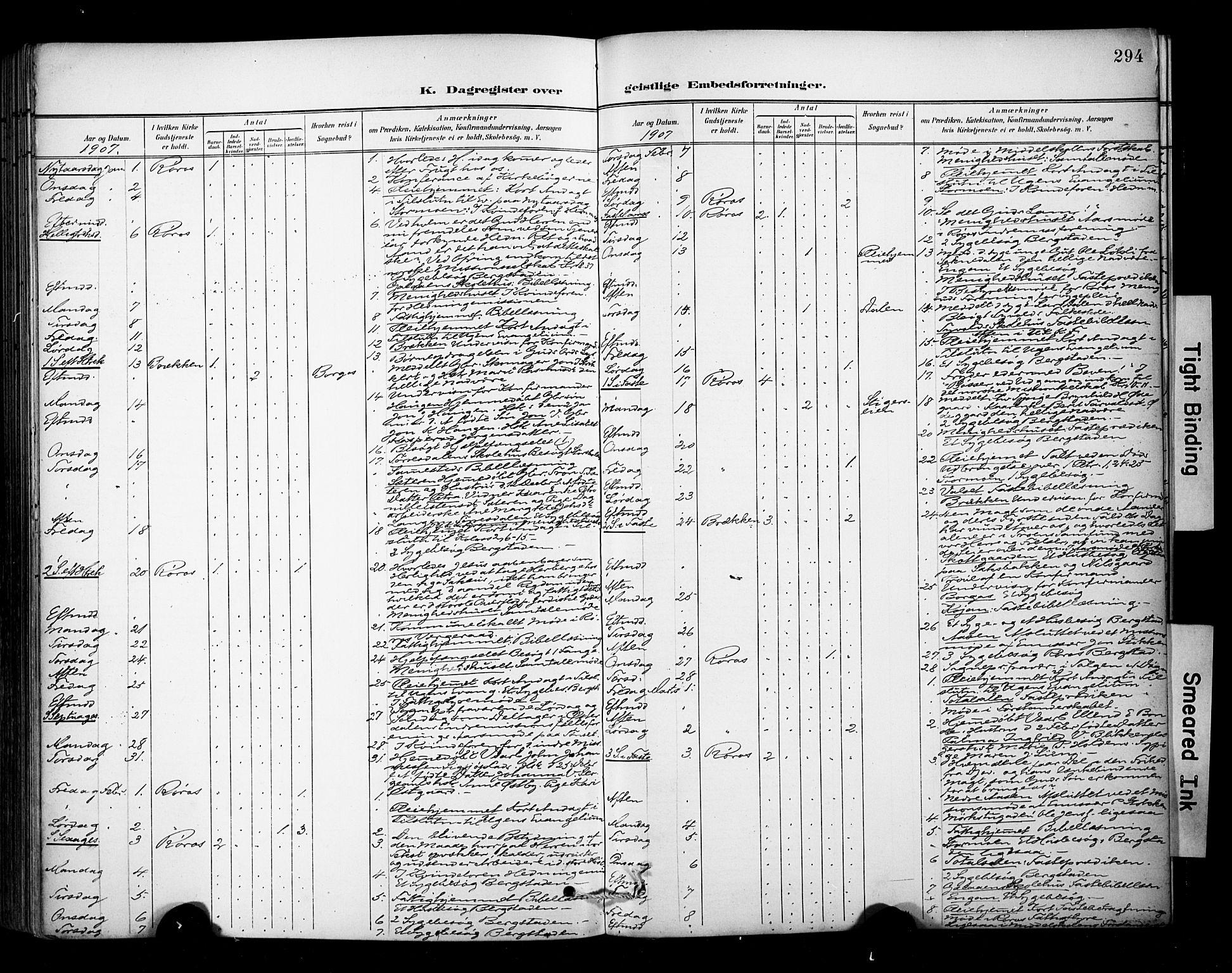 SAT, Ministerialprotokoller, klokkerbøker og fødselsregistre - Sør-Trøndelag, 681/L0936: Ministerialbok nr. 681A14, 1899-1908, s. 294