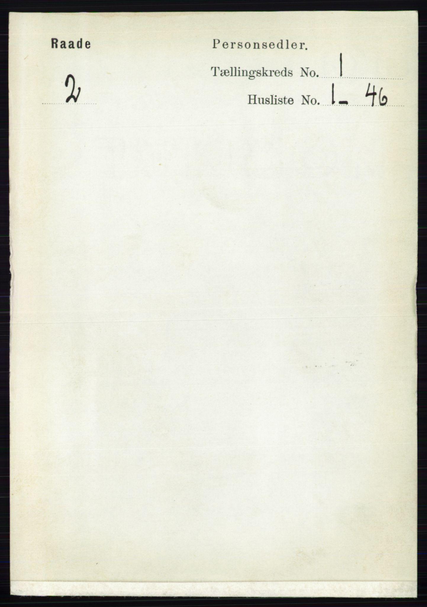 RA, Folketelling 1891 for 0135 Råde herred, 1891, s. 98