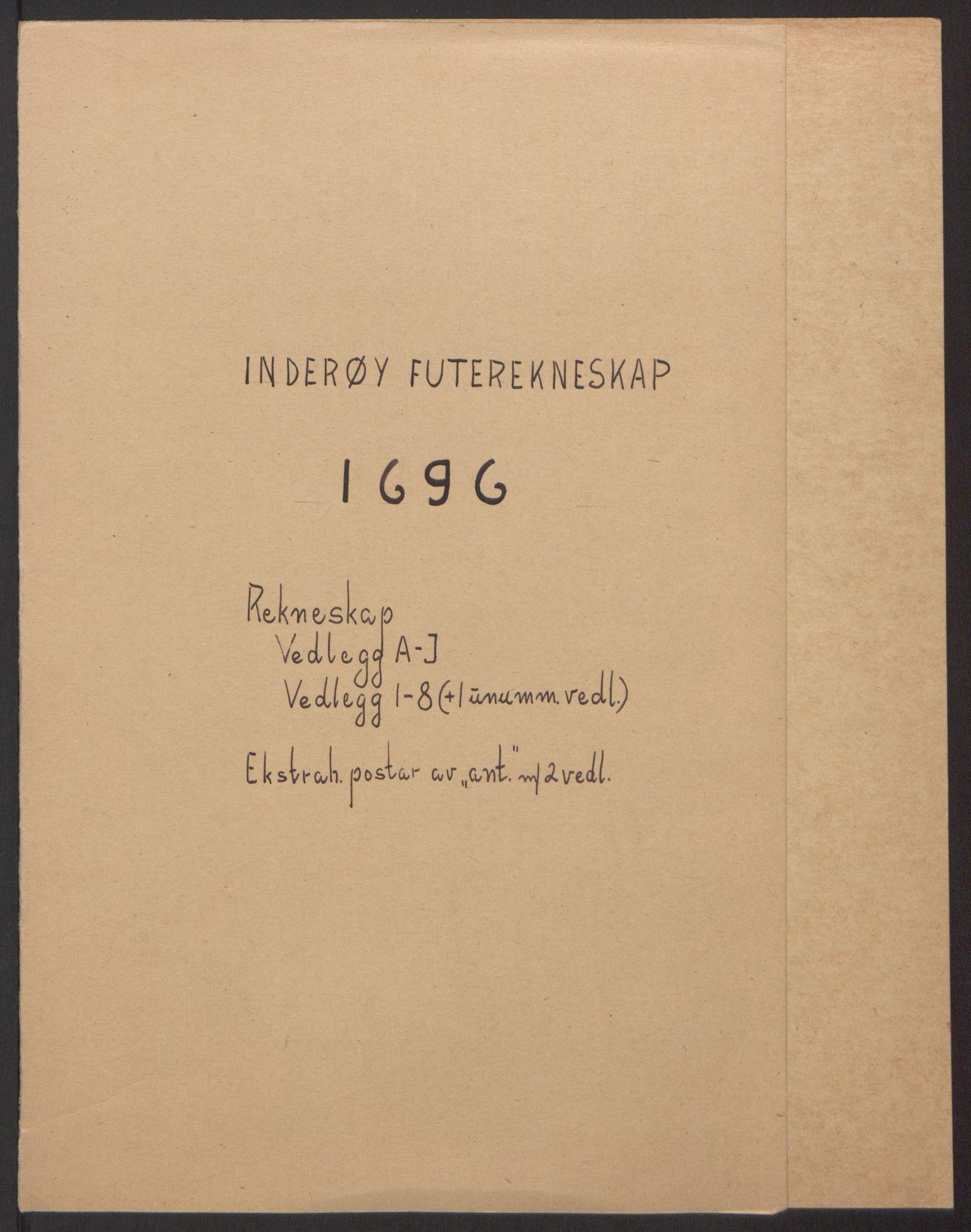 RA, Rentekammeret inntil 1814, Reviderte regnskaper, Fogderegnskap, R63/L4309: Fogderegnskap Inderøy, 1695-1697, s. 120