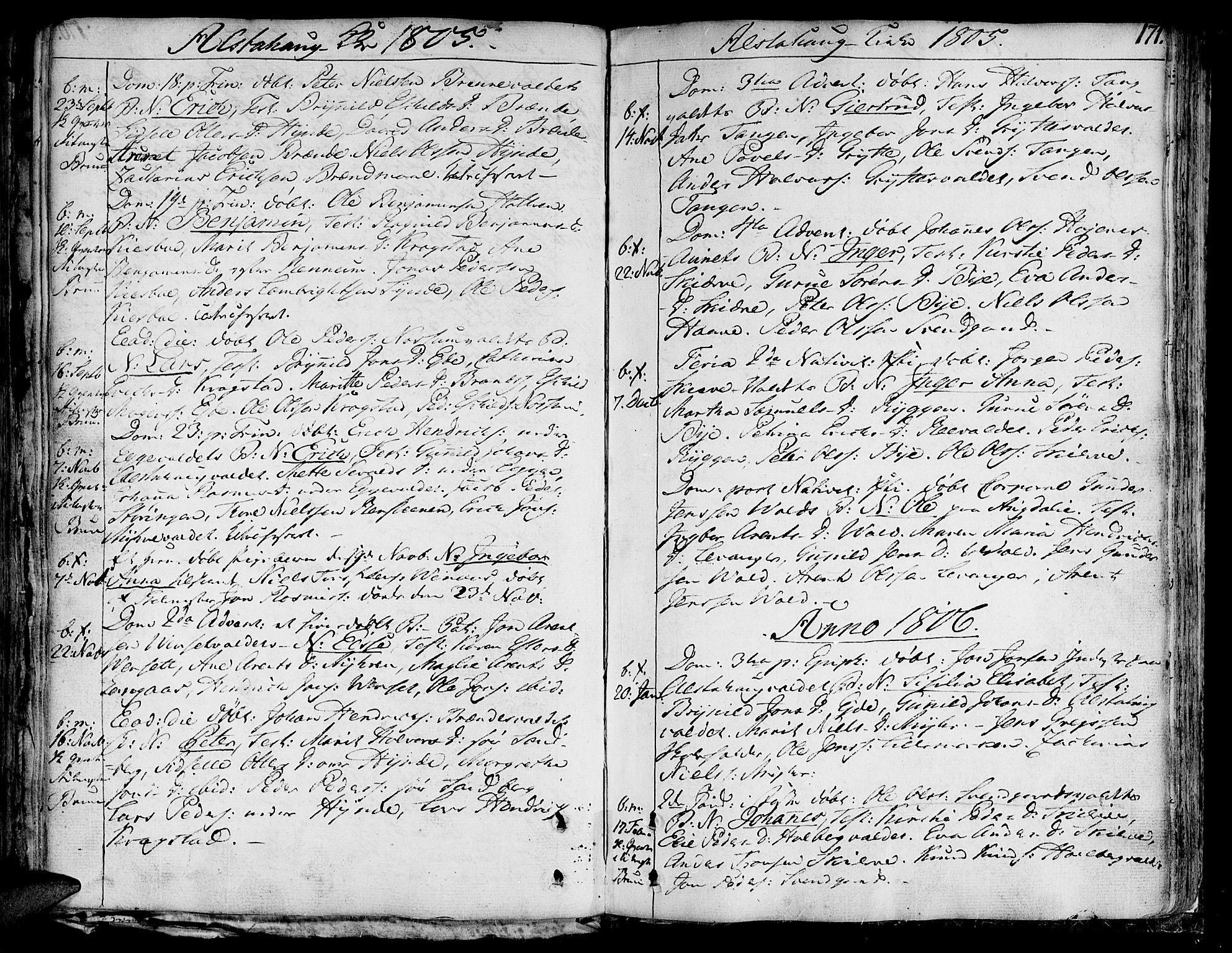 SAT, Ministerialprotokoller, klokkerbøker og fødselsregistre - Nord-Trøndelag, 717/L0142: Ministerialbok nr. 717A02 /1, 1783-1809, s. 171