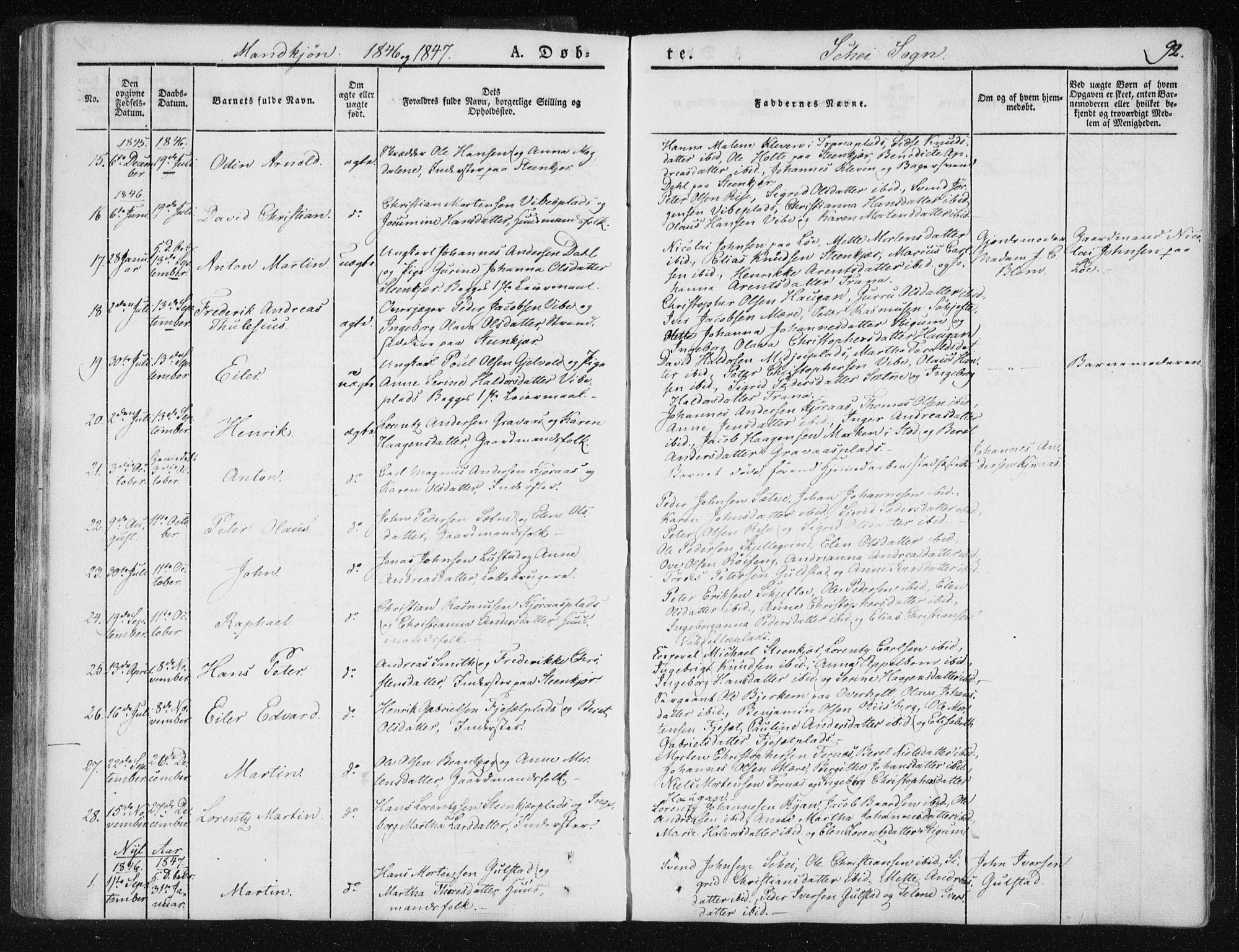 SAT, Ministerialprotokoller, klokkerbøker og fødselsregistre - Nord-Trøndelag, 735/L0339: Ministerialbok nr. 735A06 /2, 1836-1848, s. 92