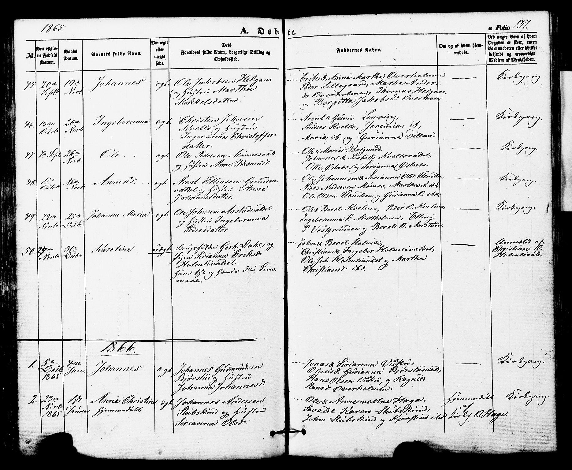 SAT, Ministerialprotokoller, klokkerbøker og fødselsregistre - Nord-Trøndelag, 724/L0268: Klokkerbok nr. 724C04, 1846-1878, s. 137