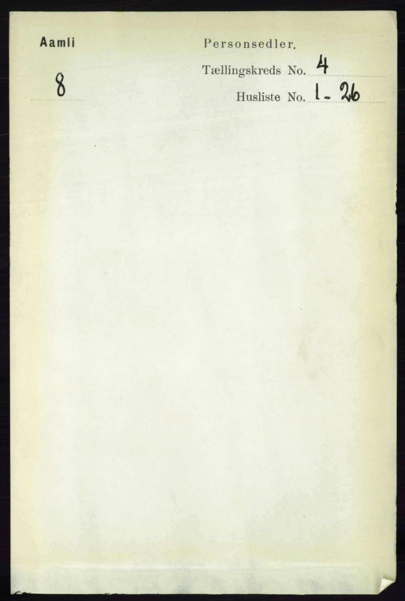 RA, Folketelling 1891 for 0929 Åmli herred, 1891, s. 438