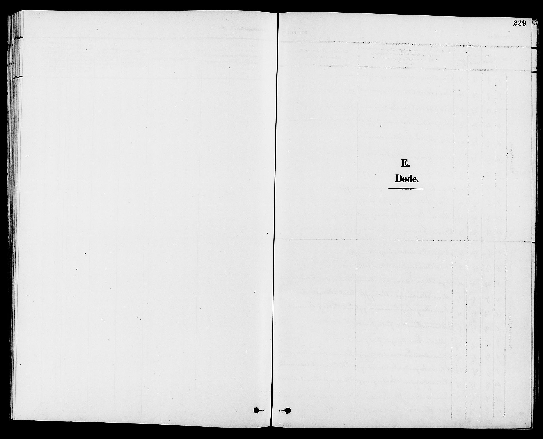 SAH, Vestre Toten prestekontor, H/Ha/Hab/L0010: Klokkerbok nr. 10, 1900-1912, s. 229