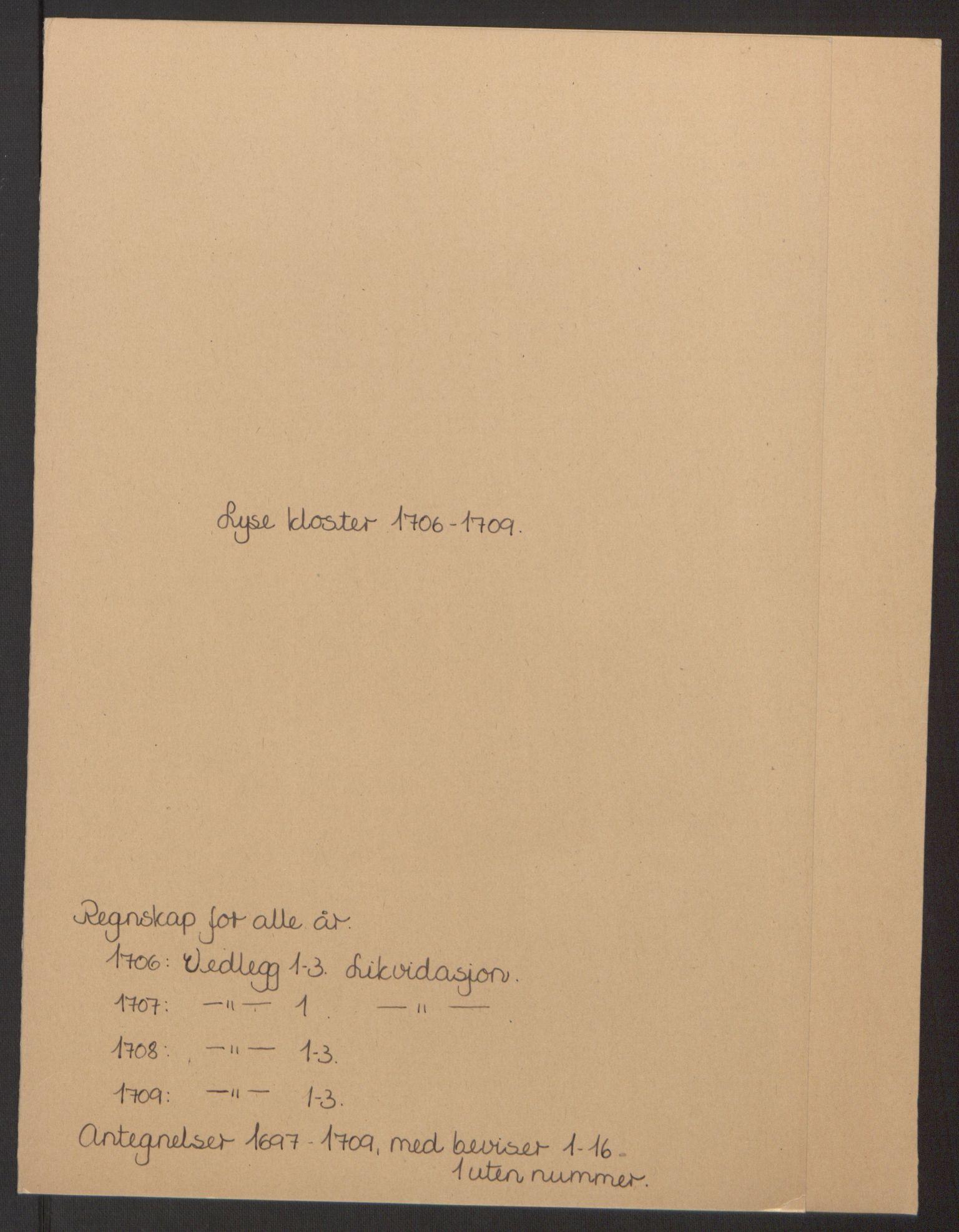 RA, Rentekammeret inntil 1814, Reviderte regnskaper, Fogderegnskap, R50/L3159: Fogderegnskap Lyse kloster, 1691-1709, s. 242