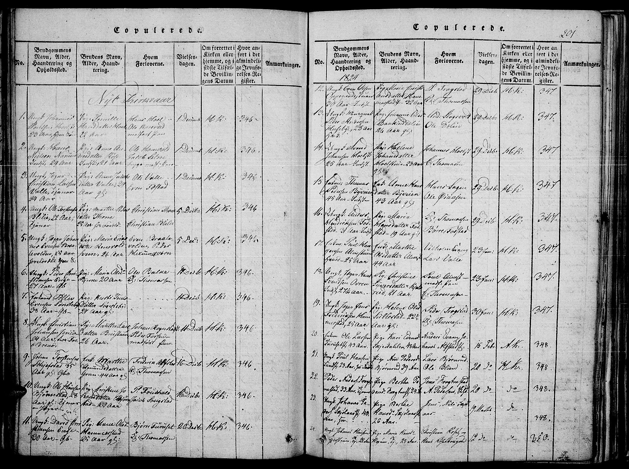 SAH, Toten prestekontor, Ministerialbok nr. 10, 1820-1828, s. 201