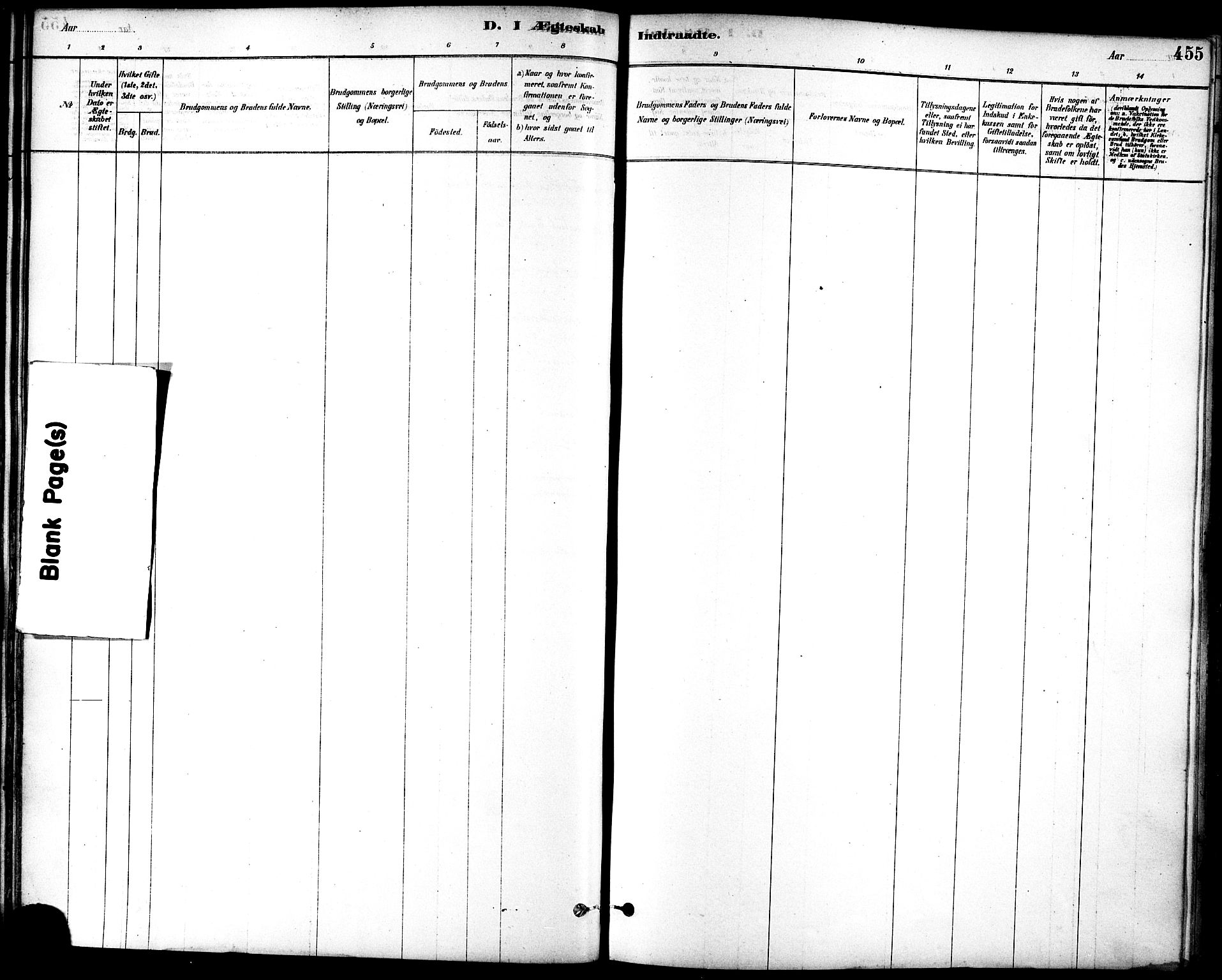 SAT, Ministerialprotokoller, klokkerbøker og fødselsregistre - Sør-Trøndelag, 601/L0058: Ministerialbok nr. 601A26, 1877-1891, s. 455