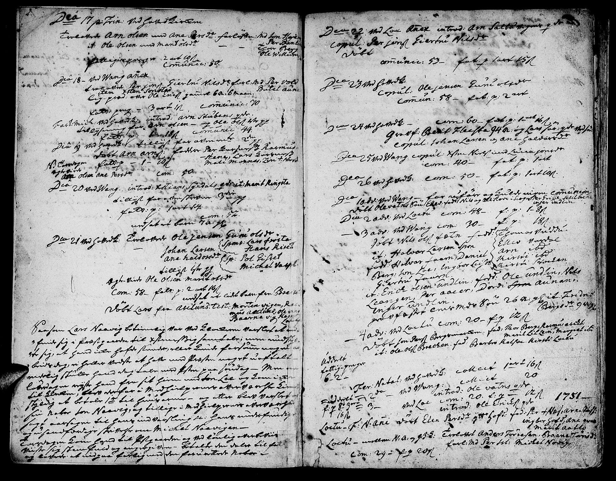 SAT, Ministerialprotokoller, klokkerbøker og fødselsregistre - Nord-Trøndelag, 713/L0109: Ministerialbok nr. 713A01, 1750-1778, s. 2-3