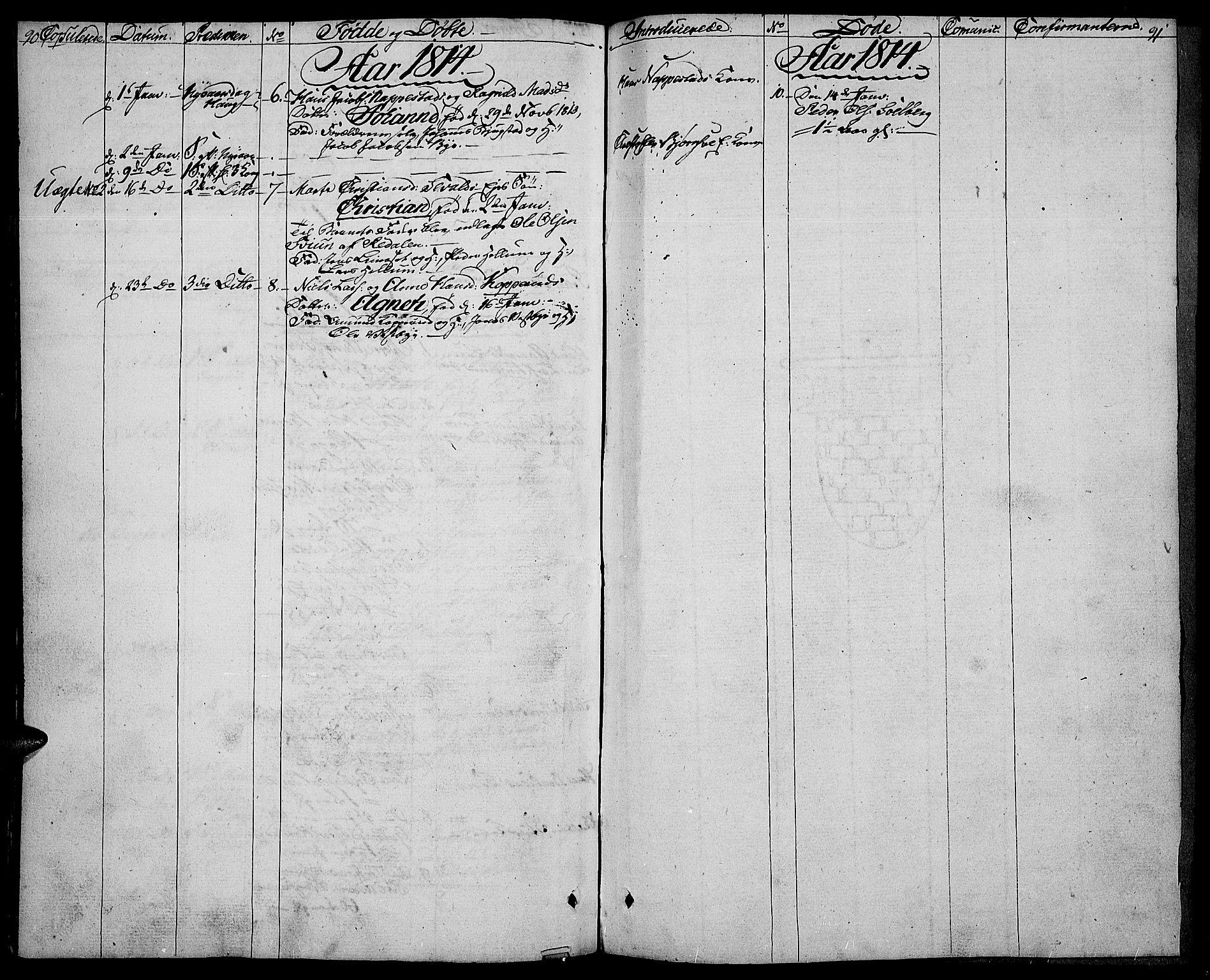 SAH, Vardal prestekontor, H/Ha/Haa/L0003: Ministerialbok nr. 3, 1808-1814, s. 90-91