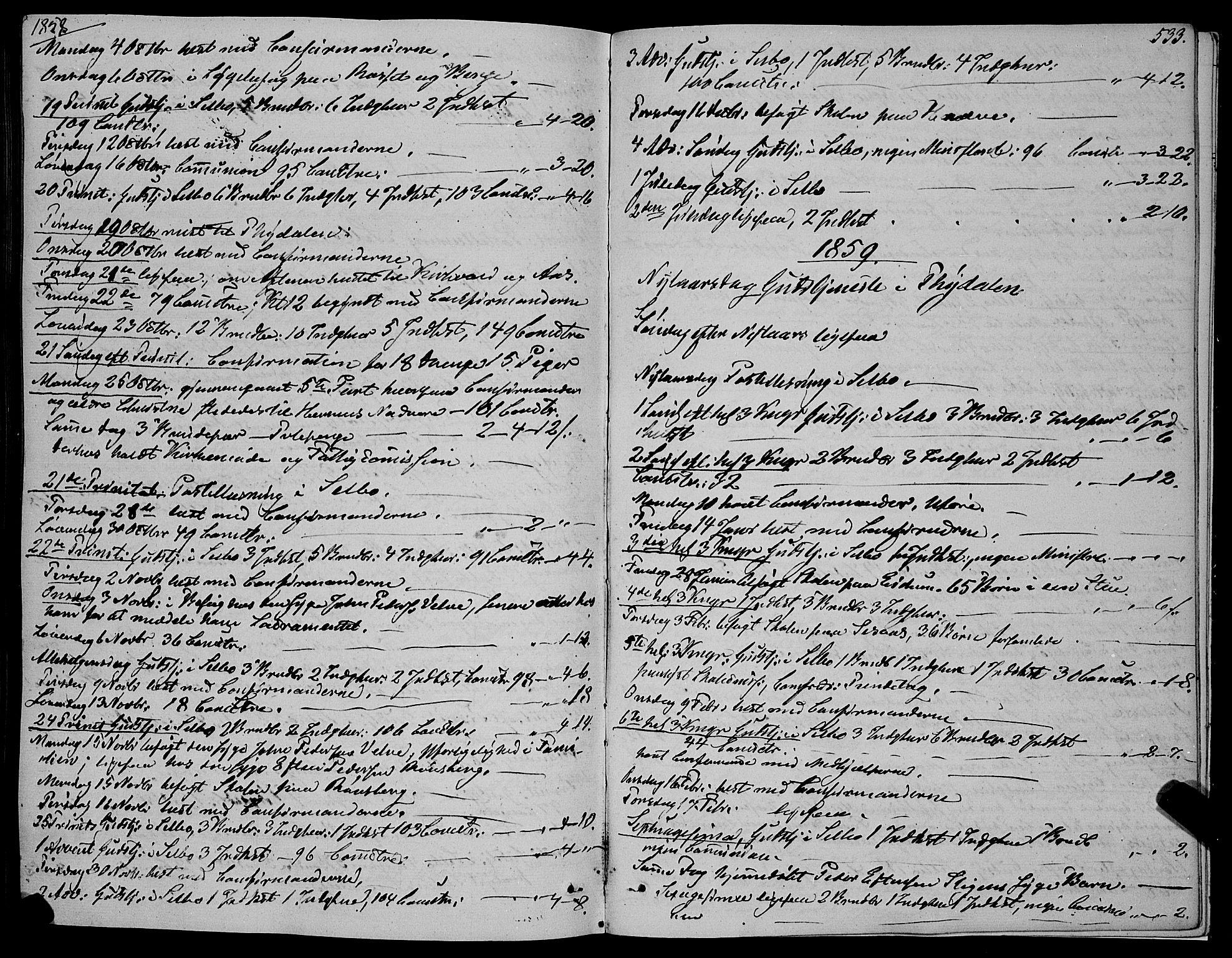 SAT, Ministerialprotokoller, klokkerbøker og fødselsregistre - Sør-Trøndelag, 695/L1145: Ministerialbok nr. 695A06 /1, 1843-1859, s. 533