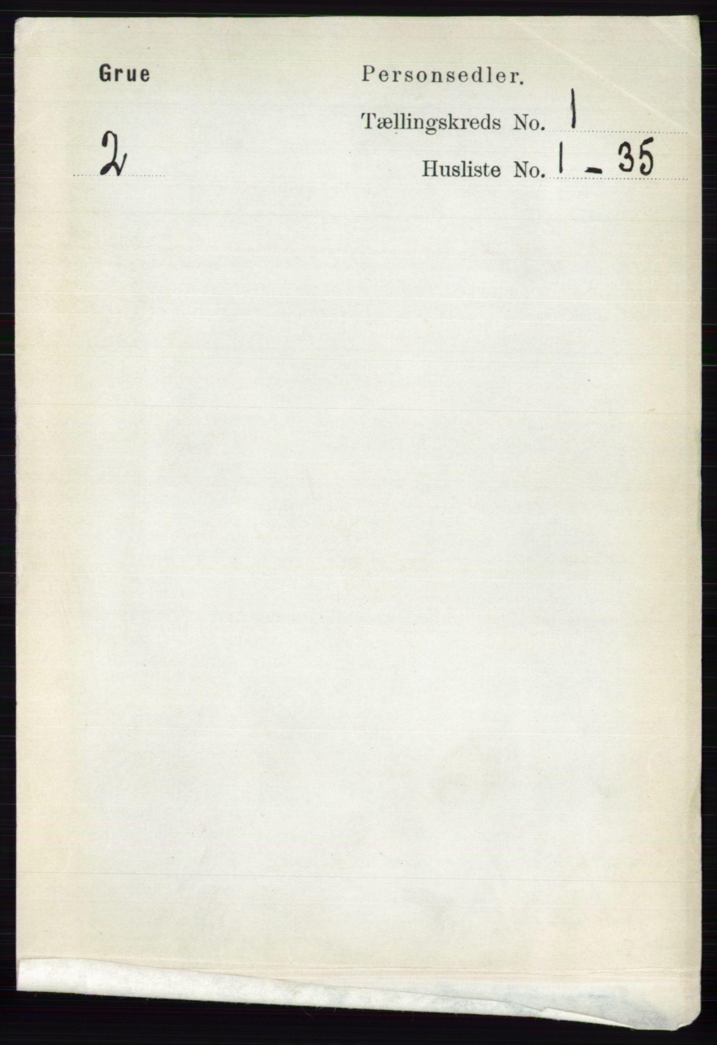RA, Folketelling 1891 for 0423 Grue herred, 1891, s. 191