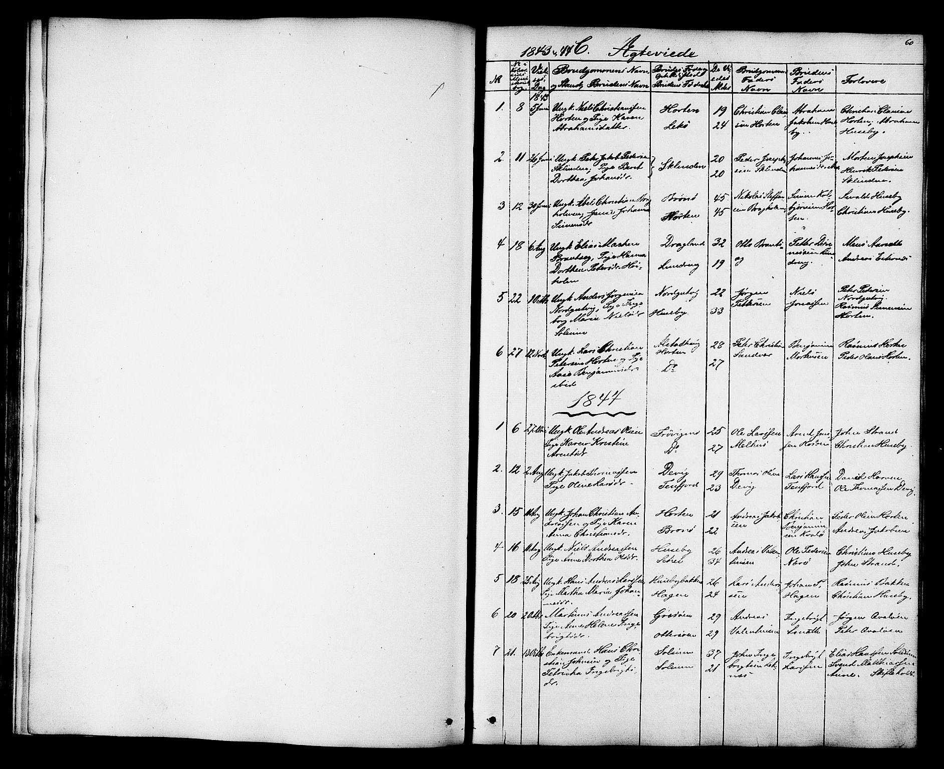 SAT, Ministerialprotokoller, klokkerbøker og fødselsregistre - Nord-Trøndelag, 788/L0695: Ministerialbok nr. 788A02, 1843-1862, s. 60