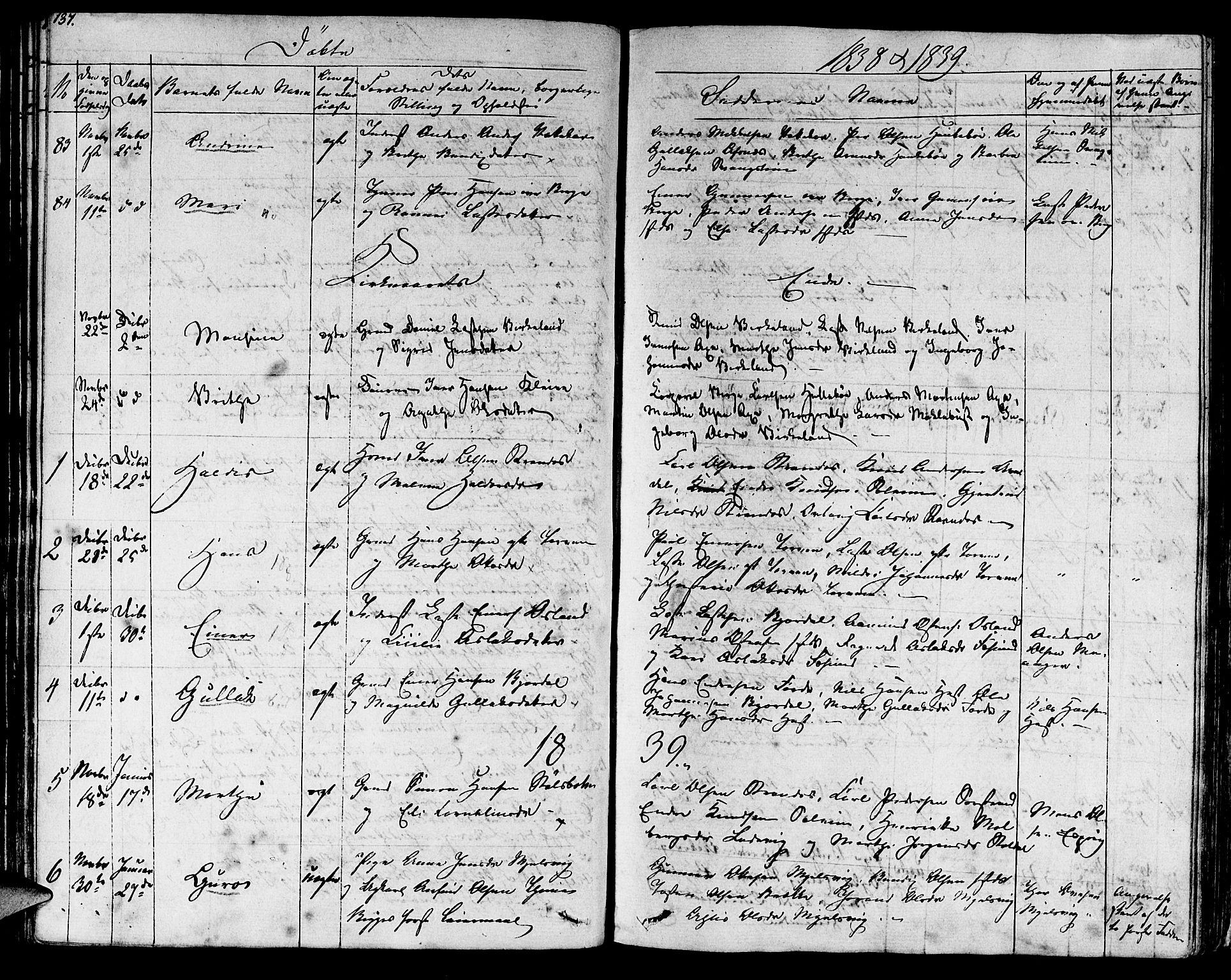 SAB, Lavik sokneprestembete, Ministerialbok nr. A 2I, 1821-1842, s. 137