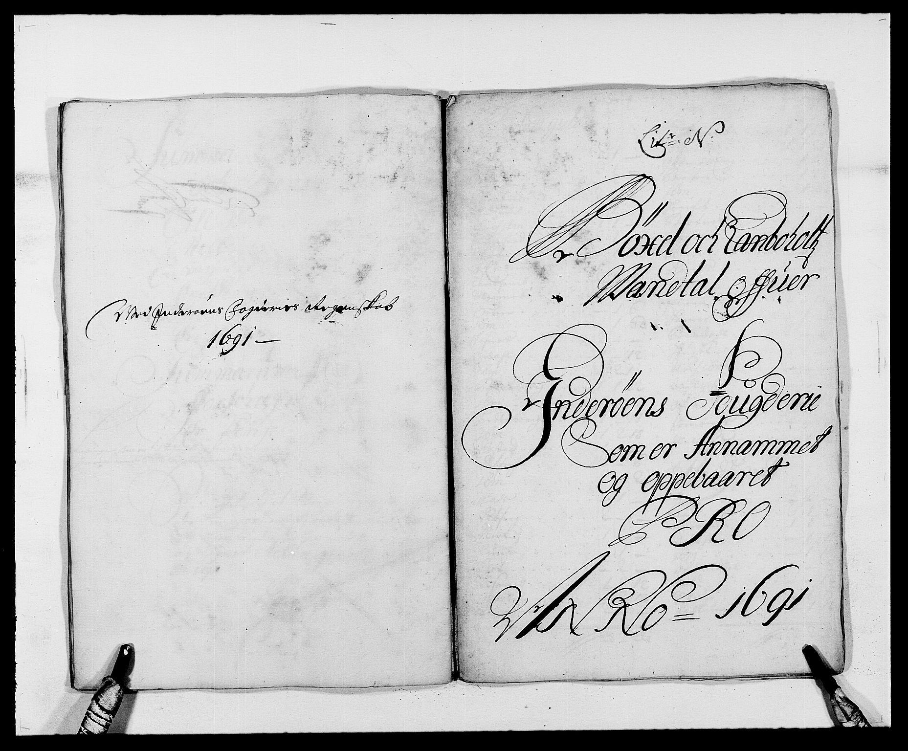 RA, Rentekammeret inntil 1814, Reviderte regnskaper, Fogderegnskap, R63/L4307: Fogderegnskap Inderøy, 1690-1691, s. 398
