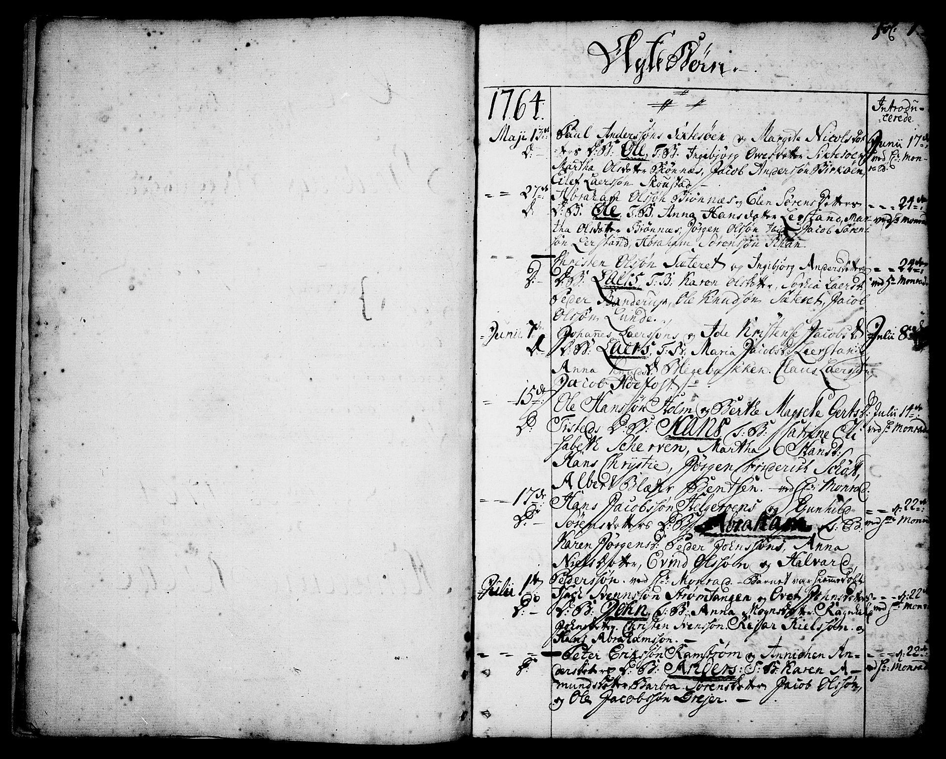 SAKO, Brevik kirkebøker, F/Fa/L0003: Ministerialbok nr. 3, 1764-1814, s. 1