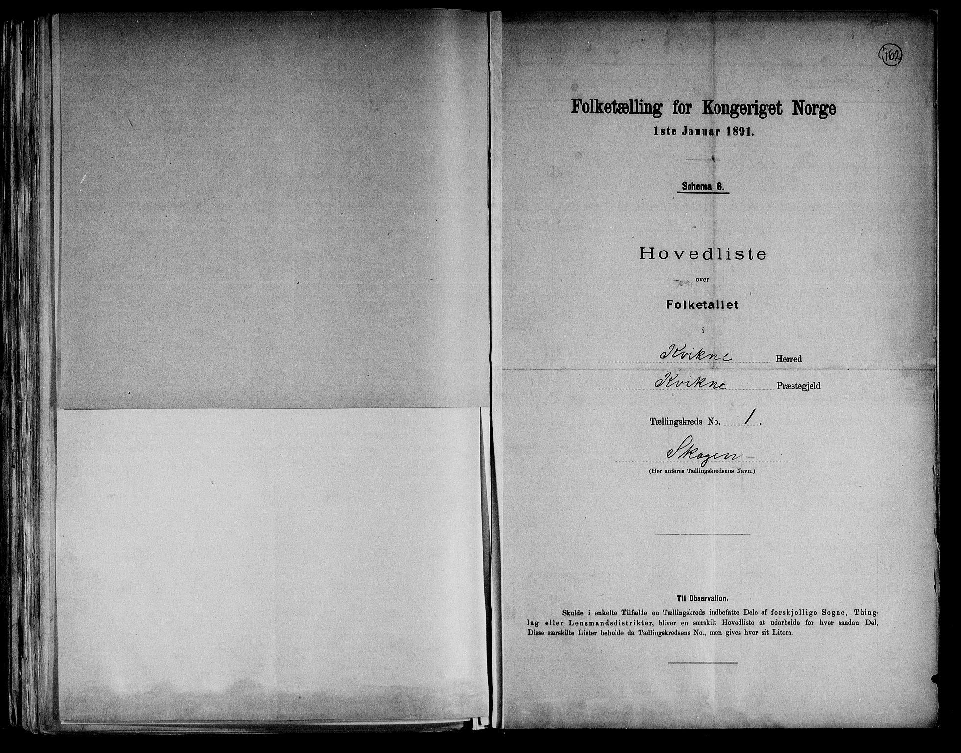 RA, Folketelling 1891 for 0440 Kvikne herred, 1891, s. 5