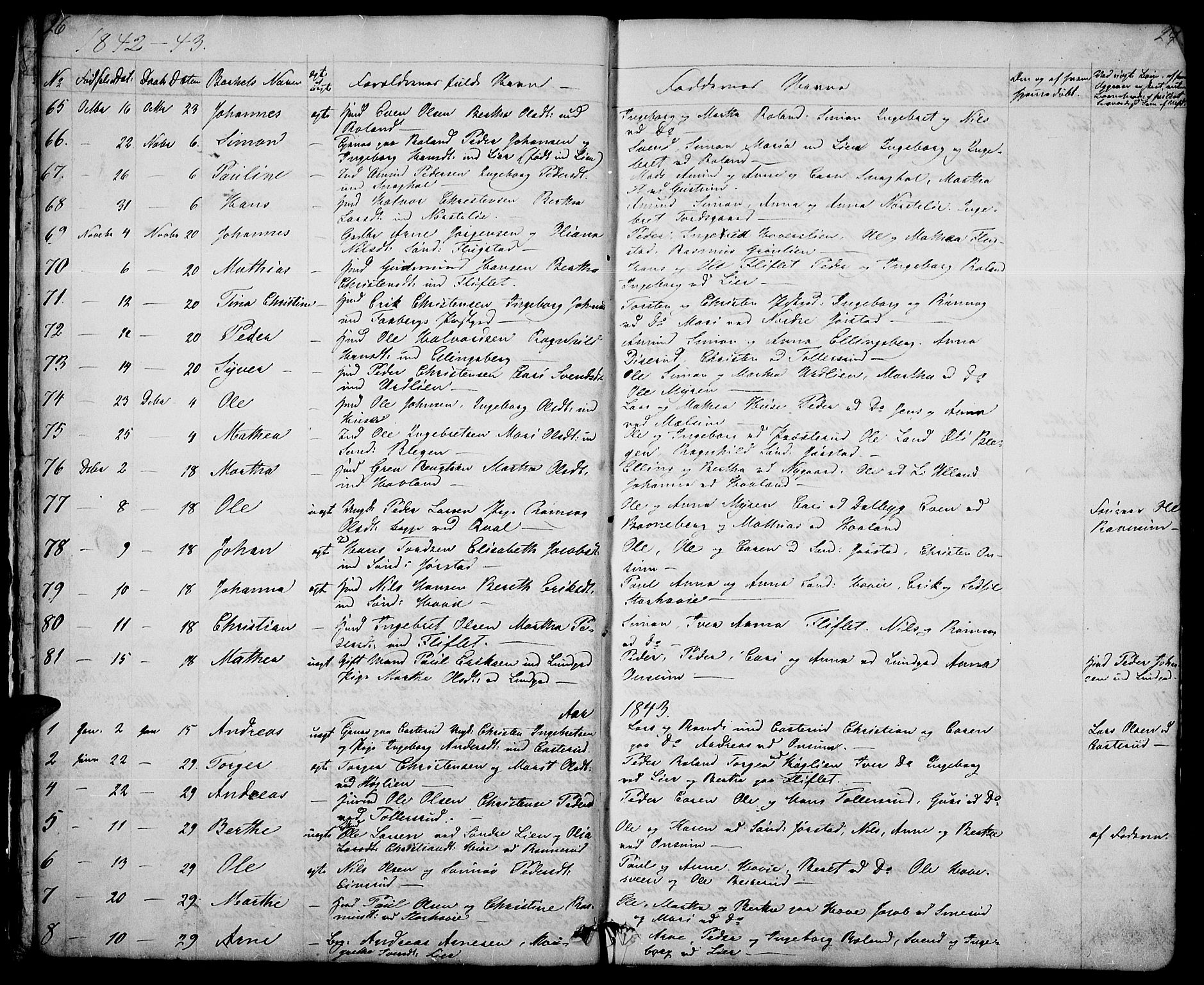 SAH, Fåberg prestekontor, Klokkerbok nr. 5, 1837-1864, s. 26-27