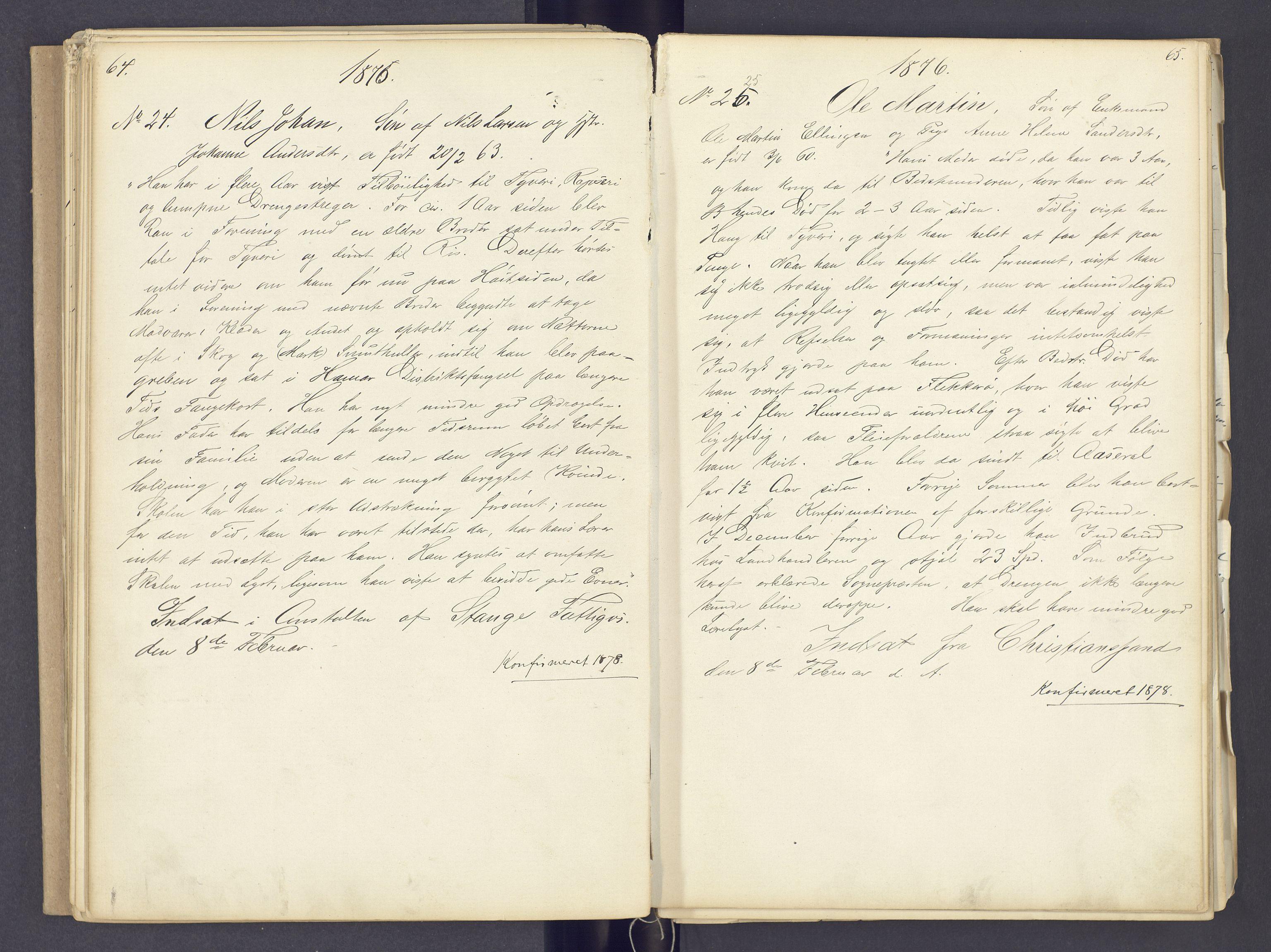 SAH, Toftes Gave, F/Fc/L0002: Elevprotokoll, 1870-1885, s. 64-65