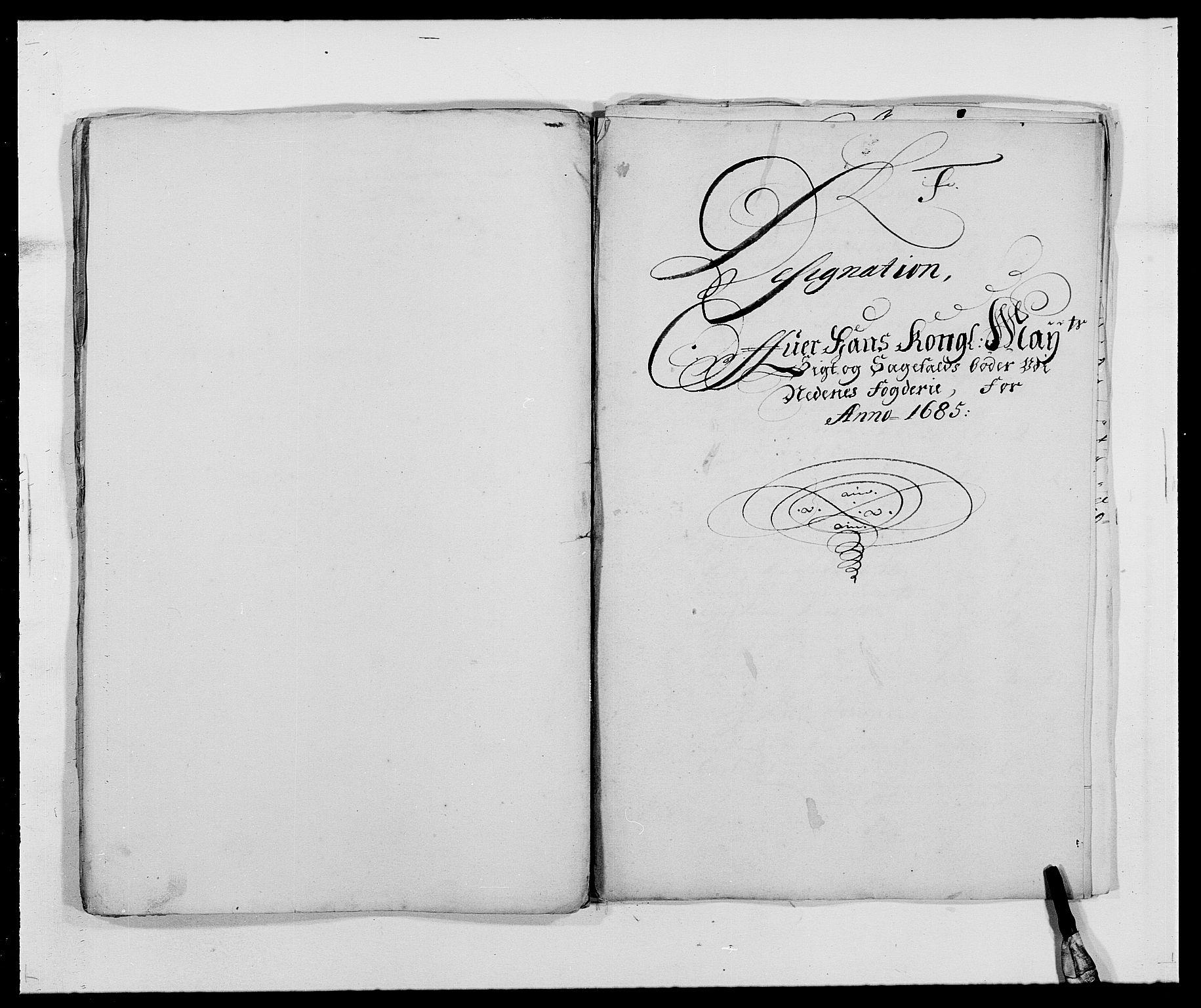 RA, Rentekammeret inntil 1814, Reviderte regnskaper, Fogderegnskap, R39/L2308: Fogderegnskap Nedenes, 1684-1689, s. 203