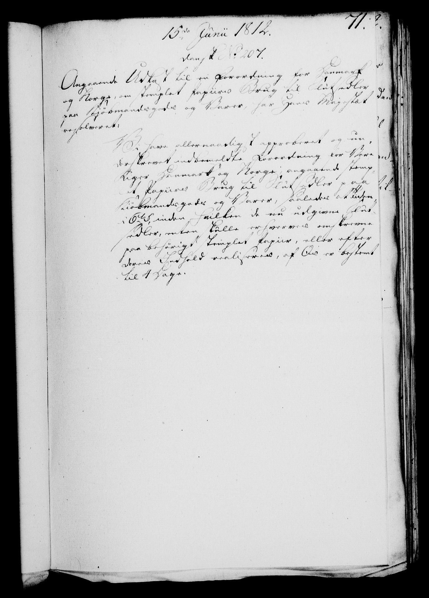 RA, Rentekammeret, Kammerkanselliet, G/Gf/Gfa/L0094: Norsk relasjons- og resolusjonsprotokoll (merket RK 52.94), 1812, s. 270