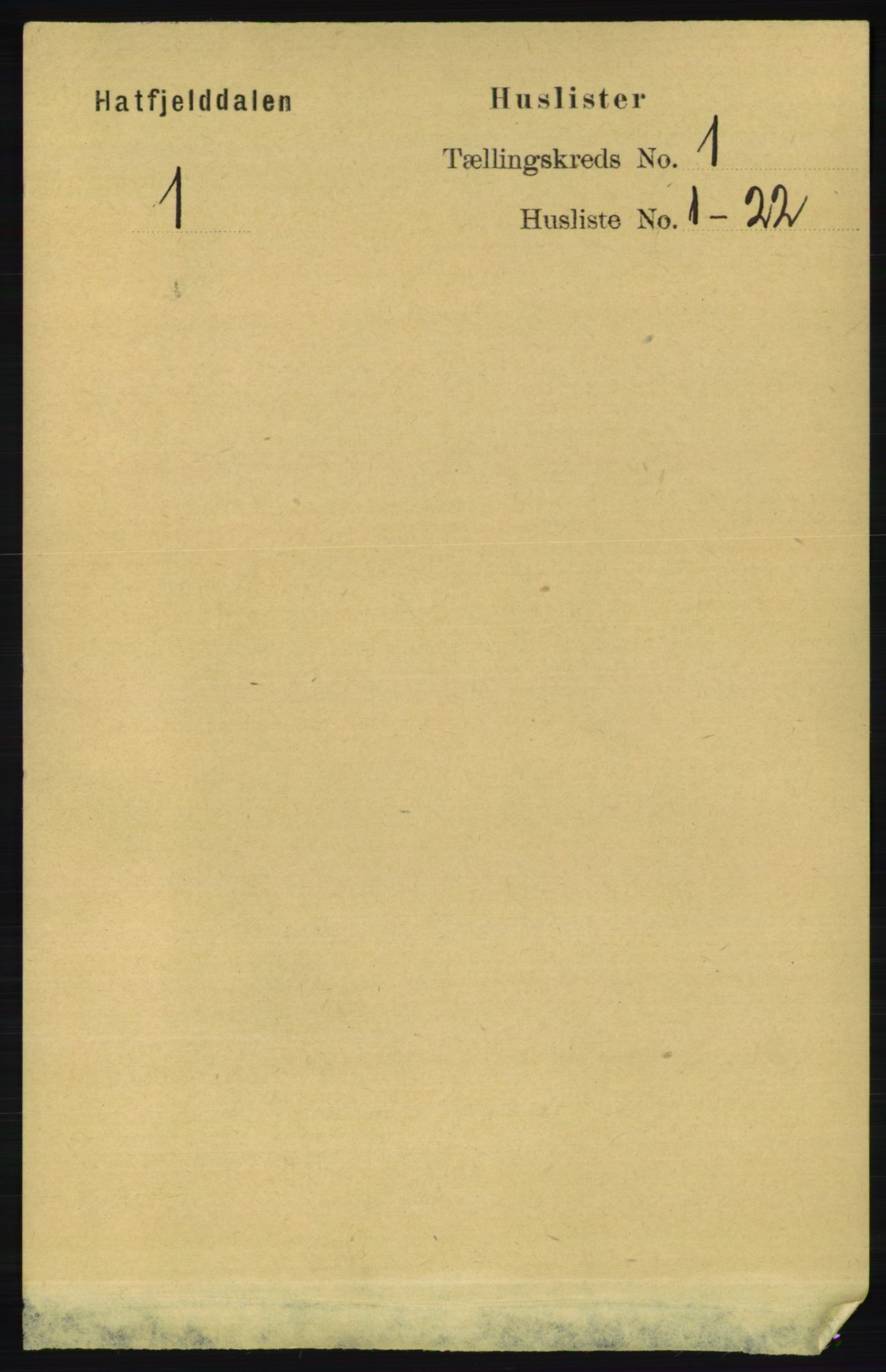 RA, Folketelling 1891 for 1826 Hattfjelldal herred, 1891, s. 15
