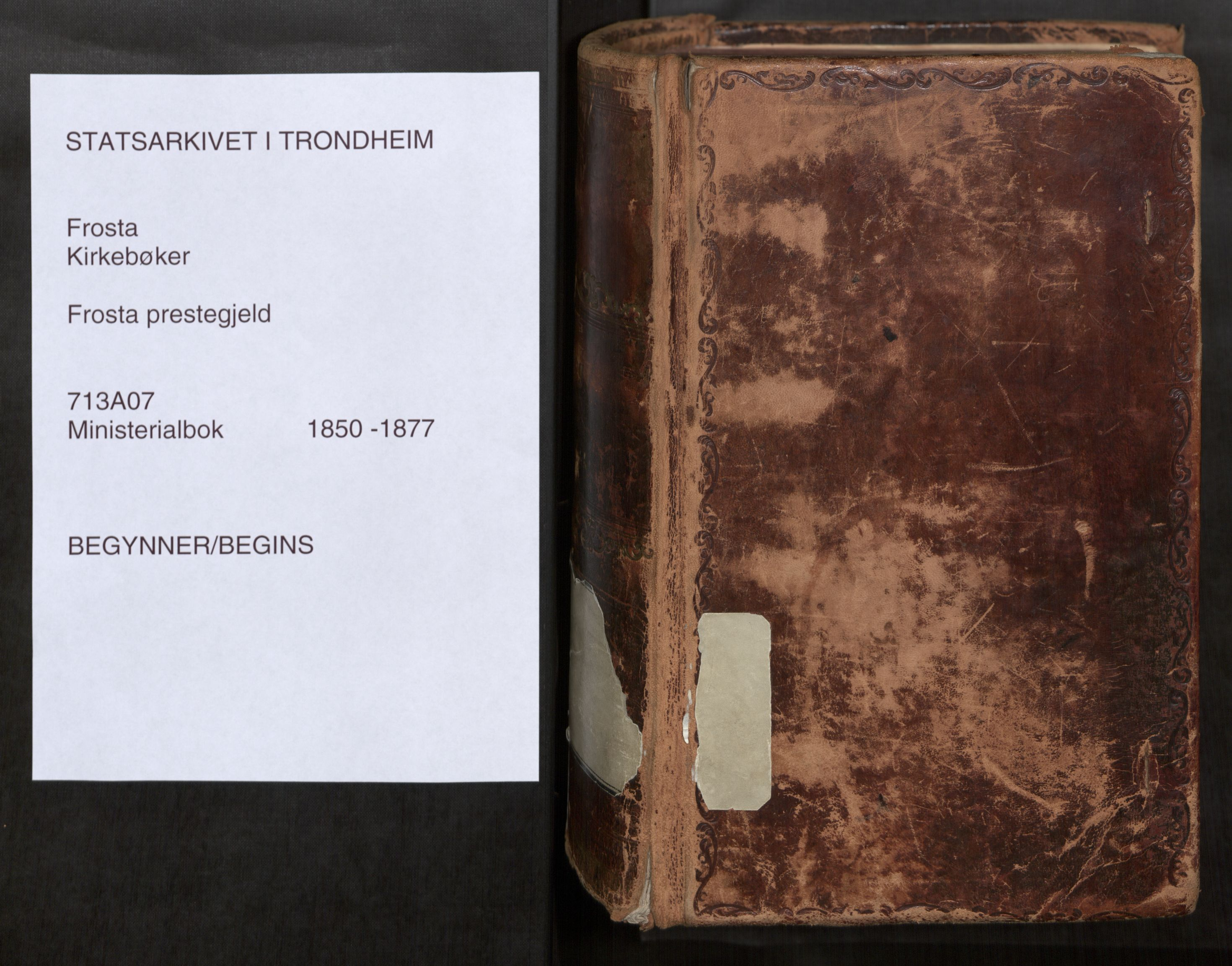 SAT, Ministerialprotokoller, klokkerbøker og fødselsregistre - Nord-Trøndelag, 713/L0116: Ministerialbok nr. 713A07, 1850-1877