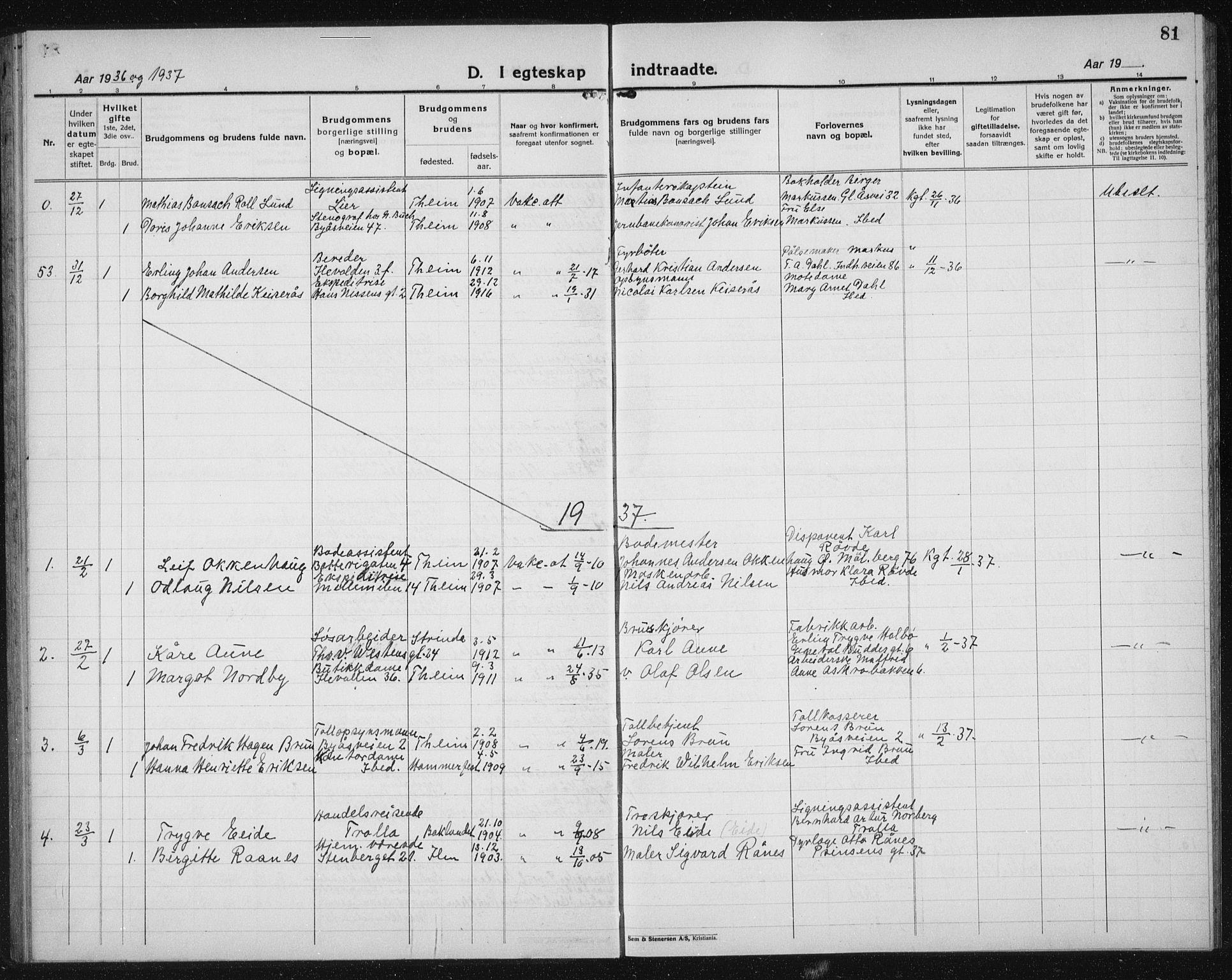 SAT, Ministerialprotokoller, klokkerbøker og fødselsregistre - Sør-Trøndelag, 603/L0176: Klokkerbok nr. 603C04, 1923-1941, s. 81