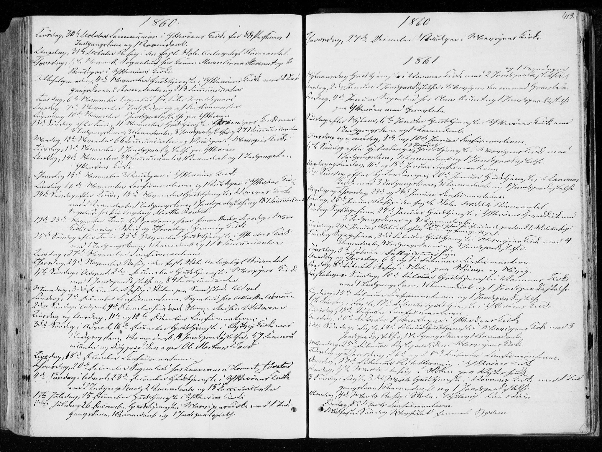 SAT, Ministerialprotokoller, klokkerbøker og fødselsregistre - Nord-Trøndelag, 722/L0218: Ministerialbok nr. 722A05, 1843-1868, s. 413
