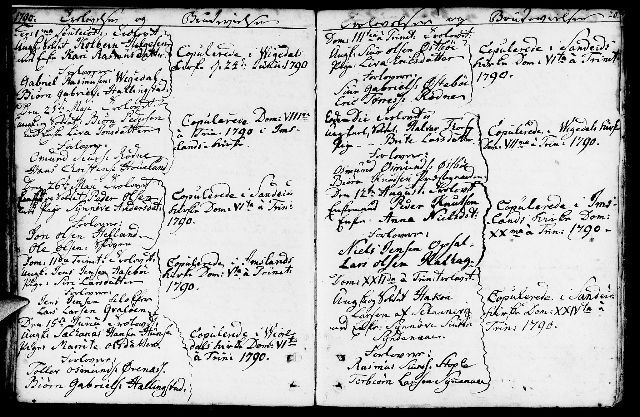 SAST, Vikedal sokneprestkontor, IV: Ministerialbok nr. A 2, 1779-1817, s. 20