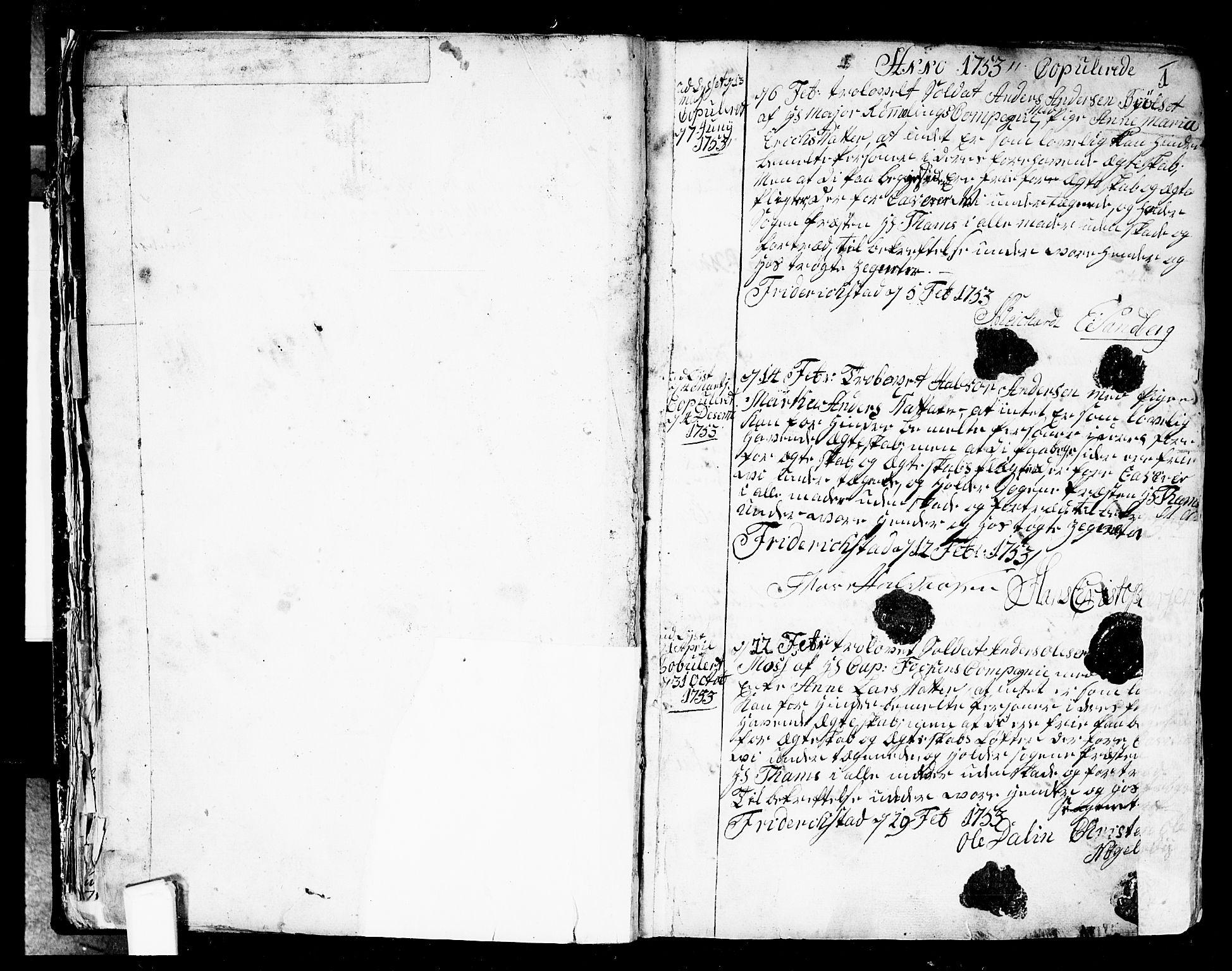 SAO, Fredrikstad prestekontor Kirkebøker, F/Fa/L0002: Ministerialbok nr. 2, 1750-1804, s. 0-1