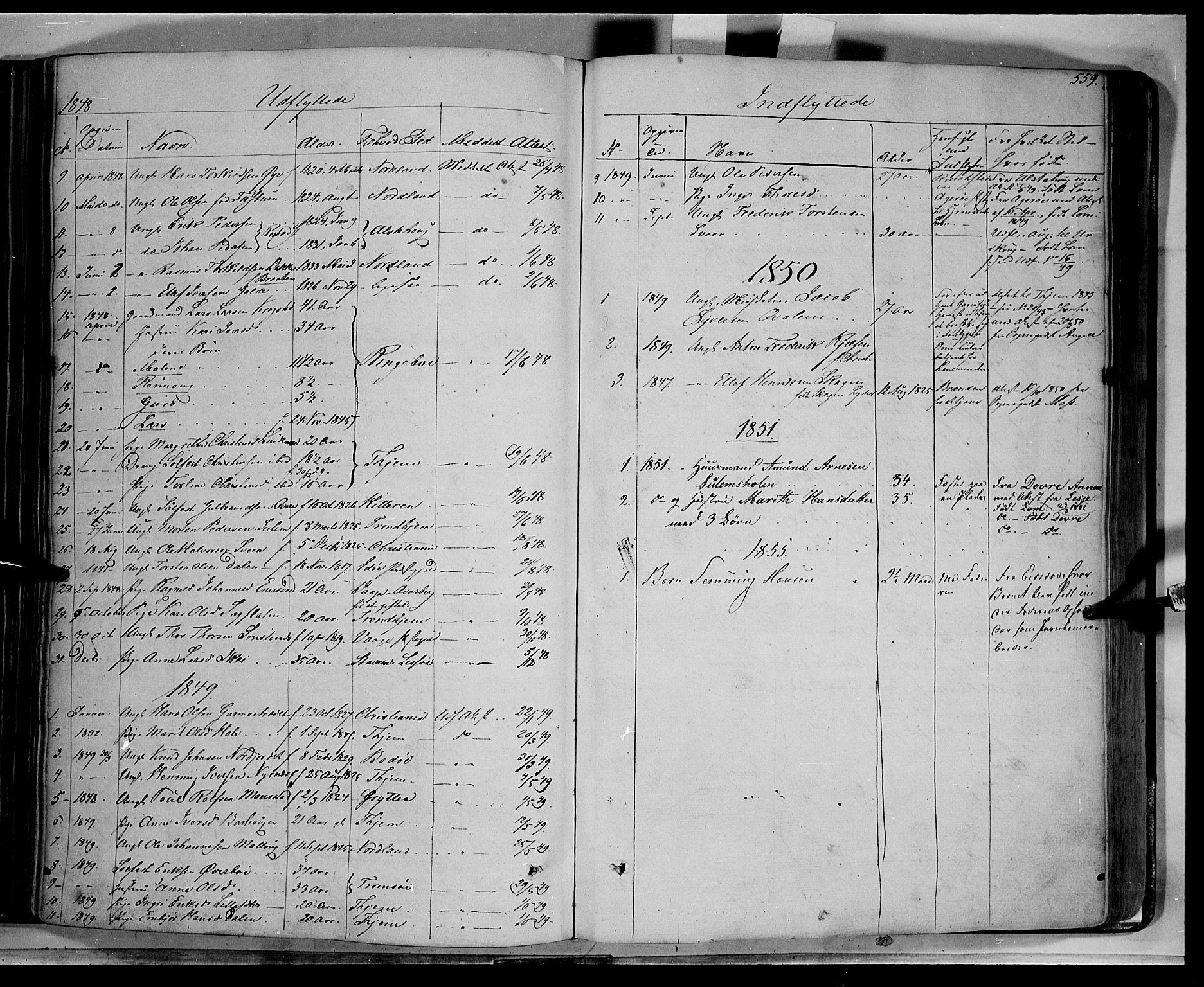 SAH, Lom prestekontor, K/L0006: Ministerialbok nr. 6B, 1837-1863, s. 559