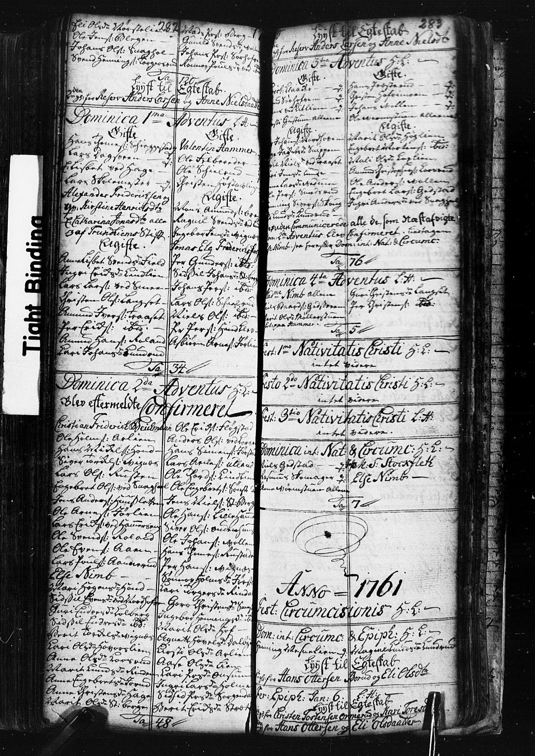 SAH, Fåberg prestekontor, Klokkerbok nr. 1, 1727-1767, s. 282-283