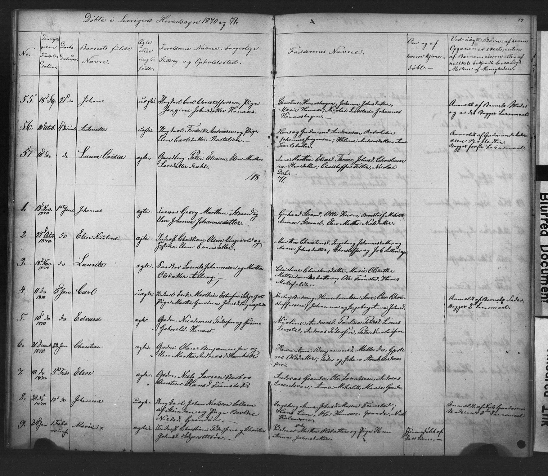 SAT, Ministerialprotokoller, klokkerbøker og fødselsregistre - Nord-Trøndelag, 701/L0018: Klokkerbok nr. 701C02, 1868-1872, s. 19