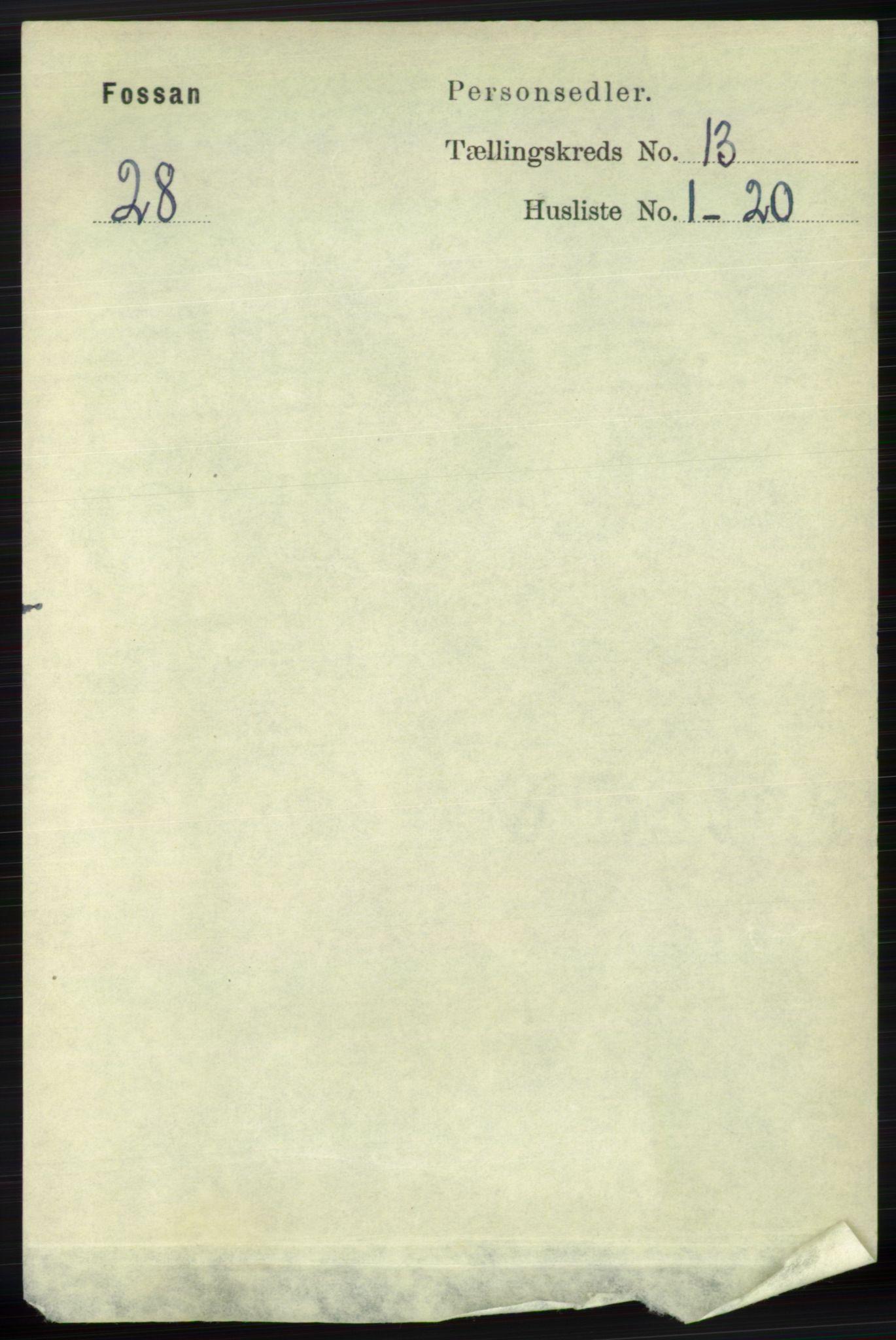 RA, Folketelling 1891 for 1129 Forsand herred, 1891, s. 2046