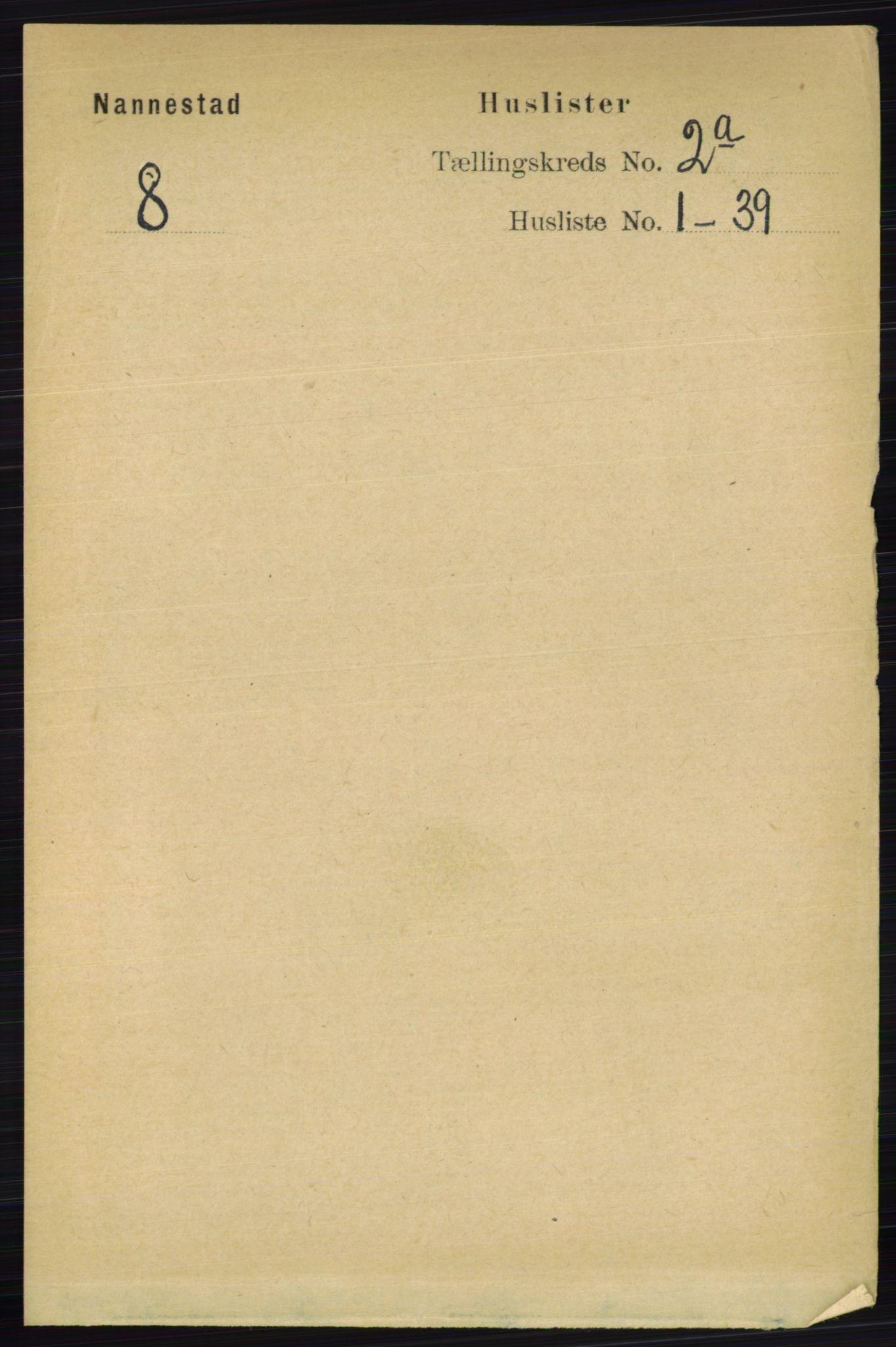 RA, Folketelling 1891 for 0238 Nannestad herred, 1891, s. 819