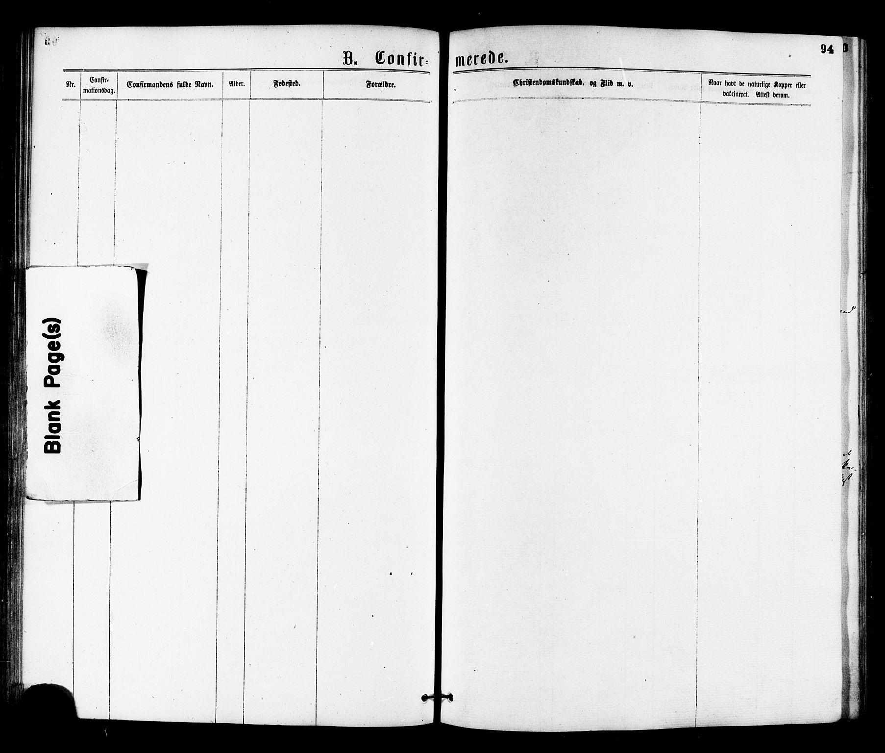 SAT, Ministerialprotokoller, klokkerbøker og fødselsregistre - Nord-Trøndelag, 755/L0493: Ministerialbok nr. 755A02, 1865-1881, s. 94