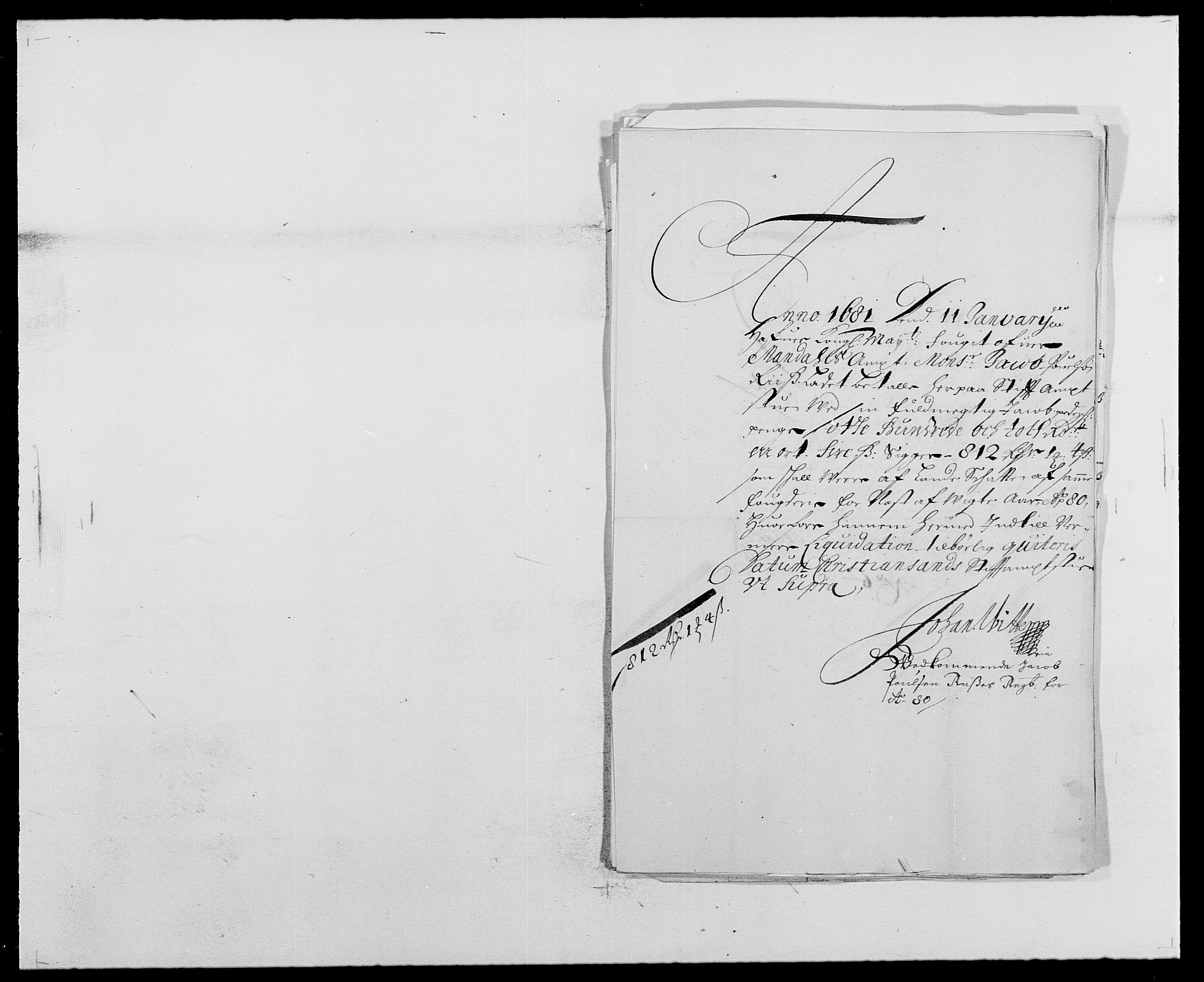 RA, Rentekammeret inntil 1814, Reviderte regnskaper, Fogderegnskap, R42/L2540: Mandal fogderi, 1676-1680, s. 212