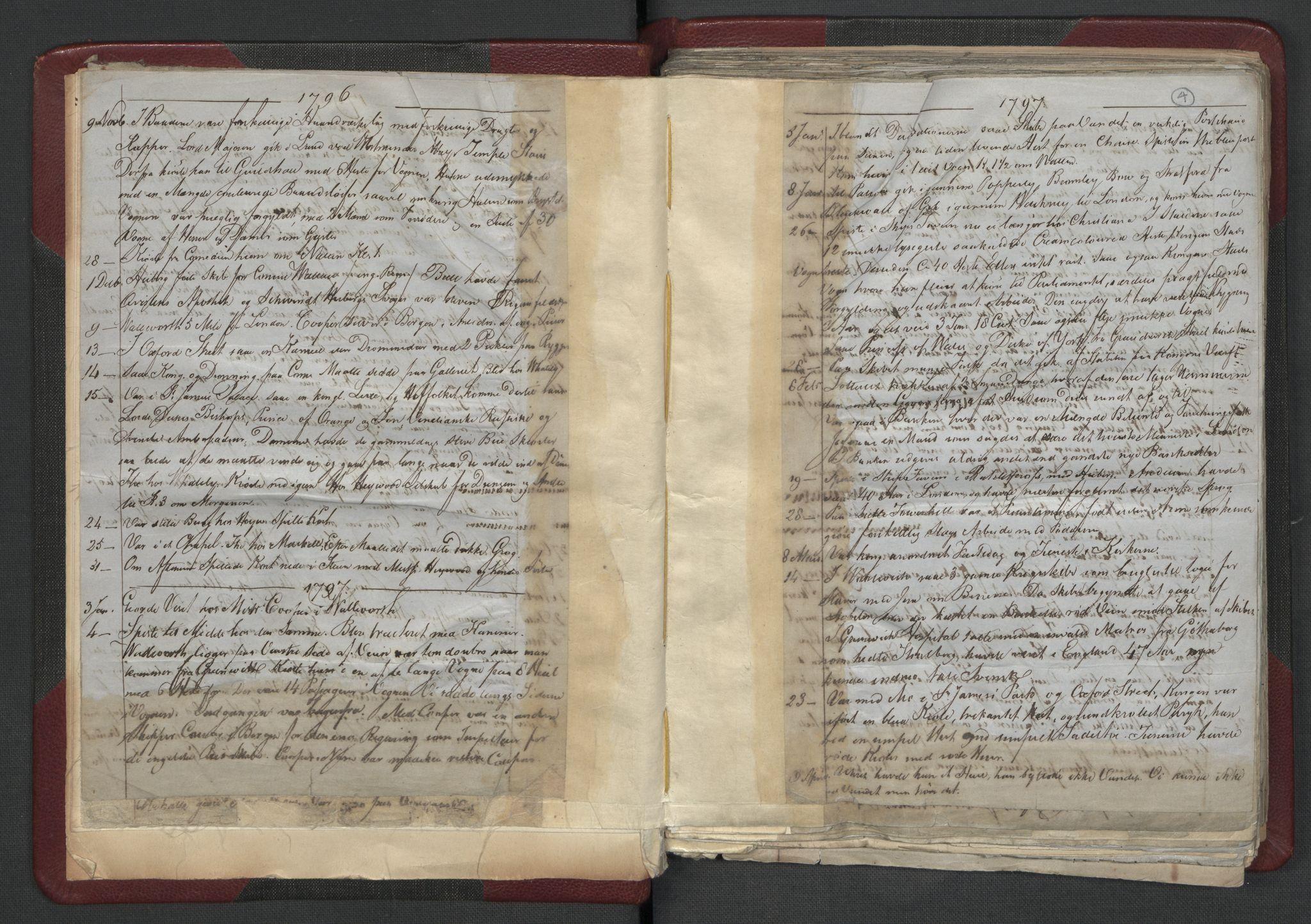 RA, Meltzer, Fredrik, F/L0001: Dagbok for årene 1796-1808, 1811, 1817, 1796-1817, s. 3b-4a
