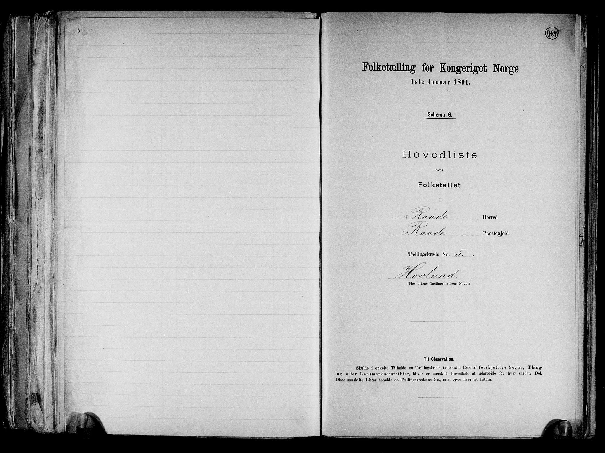 RA, Folketelling 1891 for 0135 Råde herred, 1891, s. 13