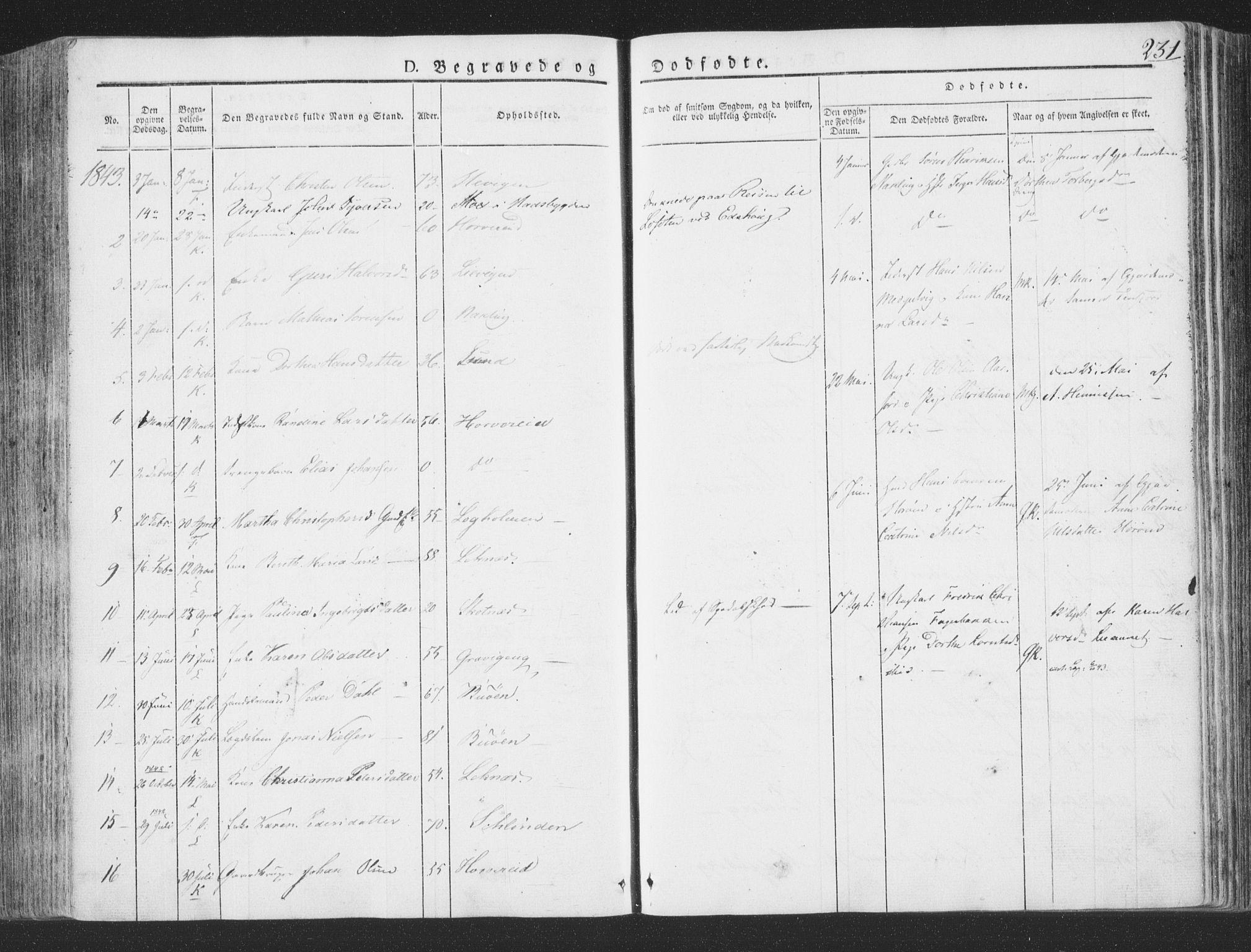 SAT, Ministerialprotokoller, klokkerbøker og fødselsregistre - Nord-Trøndelag, 780/L0639: Ministerialbok nr. 780A04, 1830-1844, s. 231
